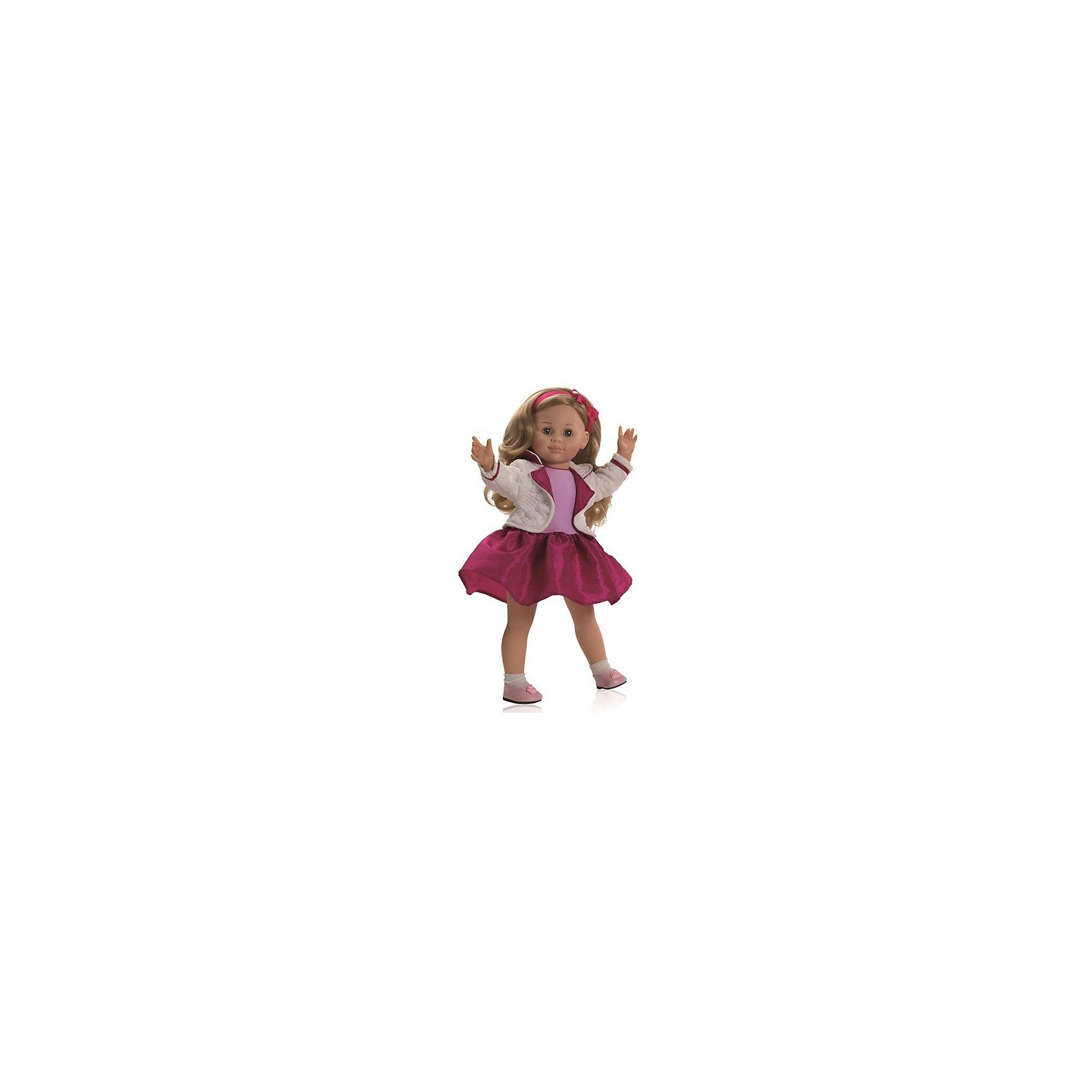 Кукла Иза, 47 см, Paola ReinaЭта очаровательная куколка приведет в восторг любую девочку! Кукла имеет мягконабивное тело и скелетный каркас, благодаря этому у нее вращаются руки и ноги (вдоль тела и на 360 градусов). Тело куклы может немного сгибаться в талии. Очаровательная Иза так похожа на маленькую озорную девочку! Она одета в розовое платье с пышной юбкой и модный бело-розовый жакет. На ногах куколки белые носочки и маленькие туфельки. Белокурые волосы куколки так приятно расчесывать, создавая всевозможные прически. Куклы Паола Рейна имеют нежный ванильный аромат, одеты в модную одежду с аксессуарами. Выразительная мимика, уникальный и неповторимый дизайн лица и тела делают эти игрушки запоминающимися и уникальными. Куклы изготовлены из высококачественных нетоксичных материалов, абсолютно безопасны для детей. <br><br>Дополнительная информация:<br><br>- Материалы: кукла изготовлена из винила и текстиля; глаза выполнены в виде кристалла из прозрачного твердого пластика; волосы сделаны из высококачественного нейлона, одежда - текстиль.<br>- Размер: 47 см.<br>- Комплектация: кукла в одежде и обуви. <br>- Голова, ручки, ножки куклы подвижные.<br>- Мягконабивное тело.<br>- Нельзя мыть.<br>- Глаза закрываются.<br><br>Куклу Изу 47 см, Paola Reina (Паола Рейна), можно купить в нашем магазине.<br><br>Ширина мм: 290<br>Глубина мм: 155<br>Высота мм: 540<br>Вес г: 1500<br>Возраст от месяцев: 36<br>Возраст до месяцев: 144<br>Пол: Женский<br>Возраст: Детский<br>SKU: 4420322