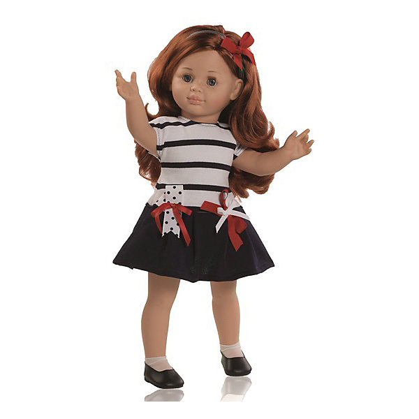 Кукла Майя, 47 см, Paola ReinaКуклы<br>Эта очаровательная куколка приведет в восторг любую девочку! Кукла имеет мягконабивное тело и скелетный каркас, благодаря этому у нее вращаются руки и ноги (вдоль тела и на 360 градусов). Тело куклы может немного сгибаться в талии. Очаровательная Майя так похожа на маленькую озорную девочку! Она одета в милое платьице в морском стиле, с отрезной юбкой и декоративными бантиками на поясе. На ногах куколки белые носочки и маленькие туфельки. Рыжие блестящие волосы куколки так приятно расчесывать, создавая всевозможные прически. Куклы Паола Рейна имеют нежный ванильный аромат, одеты в модную одежду с аксессуарами. Выразительная мимика, уникальный и неповторимый дизайн лица и тела делают эти игрушки запоминающимися и уникальными. Куклы изготовлены из высококачественных нетоксичных материалов, абсолютно безопасны для детей. <br><br>Дополнительная информация:<br><br>- Материалы: кукла изготовлена из винила и текстиля; глаза выполнены в виде кристалла из прозрачного твердого пластика; волосы сделаны из высококачественного нейлона, одежда - текстиль.<br>- Размер: 47 см.<br>- Комплектация: кукла в одежде и обуви. <br>- Голова, ручки, ножки куклы подвижные.<br>- Мягконабивное тело.<br>- Нельзя мыть.<br>- Глаза закрываются.<br><br>Куклу Майю 47 см, Paola Reina (Паола Рейна), можно купить в нашем магазине.<br>Ширина мм: 290; Глубина мм: 155; Высота мм: 540; Вес г: 1500; Возраст от месяцев: 36; Возраст до месяцев: 144; Пол: Женский; Возраст: Детский; SKU: 4420323;
