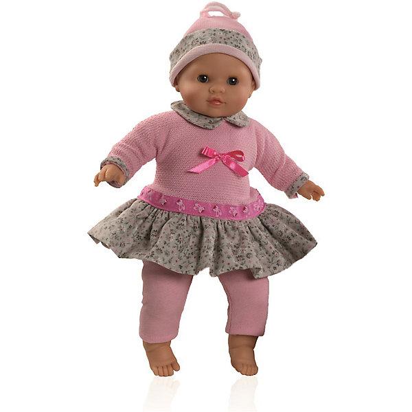 Кукла Эми, 36 см, Paola ReinaКуклы<br>Малышка Эми так похожа на настоящего младенца, что ее хочется тут же взять на руки и укачать! Куколка одета в нежно-розовое платье с пышной юбкой с цветочным принтом, декорированное милым бантиком. На голове у Эми очаровательная шапочка в тон платью, на ногах - розовые леггинсы. Складочки на ручках и ножках придают куколке еще больше реалистичности. На голове у нее рельефная поверхность, имитирующая волосы. Куклы Паола Рейна с мягконабивным телом, имеют нежный ванильный аромат, одеты в модную яркую одежду с аксессуарами. Выразительная мимика, уникальный и неповторимый дизайн лица и тела, делают эти игрушки запоминающимися, уникальными и самыми любимыми. Куклы изготовлены из высококачественных материалов, абсолютно безопасных для детей. <br><br>Дополнительная информация:<br><br>- Материалы: кукла изготовлена из винила и текстиля; глаза выполнены в виде кристалла из прозрачного твердого пластика; одежда - текстиль.<br>- Размер: 36 см.<br>- Комплектация: кукла в одежде.<br>- Голова, ручки, ножки куклы подвижные.<br>- Мягконабивное тело.<br>- Нельзя мыть.<br>- Глаза закрываются.<br><br>Куклу Эми, 36 см, Paola Reina (Паола Рейна), можно купить в нашем магазине.<br><br>Ширина мм: 120<br>Глубина мм: 250<br>Высота мм: 420<br>Вес г: 1000<br>Возраст от месяцев: 36<br>Возраст до месяцев: 144<br>Пол: Женский<br>Возраст: Детский<br>SKU: 4420326