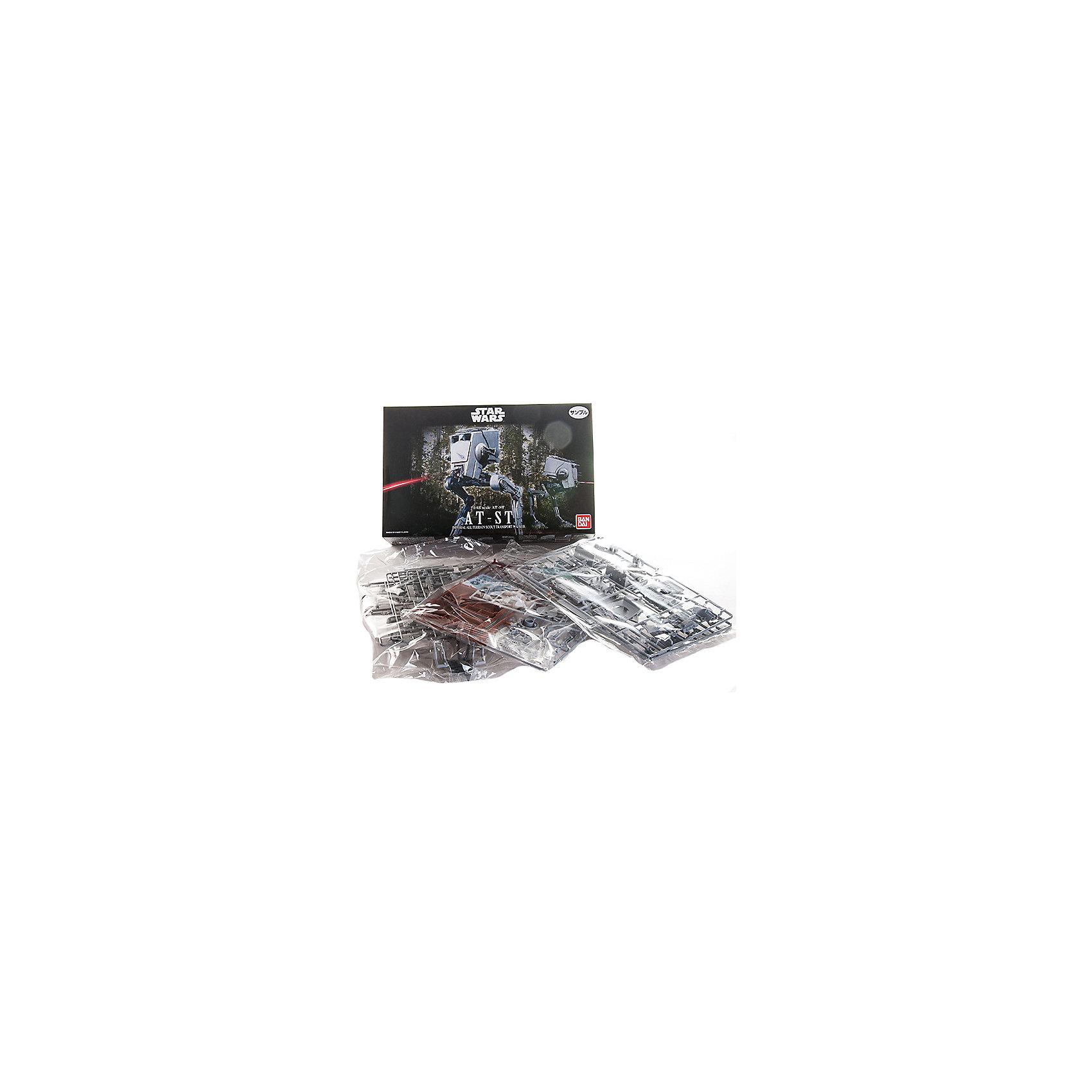 Сборная модель Шагоход AT-ST 1/48, Звездные ВойныСборные модели транспорта<br>Этот набор приведет в восторг все поклонников легендарной саги Star Wars. Красочная коробка содержит комплект деталей для сборки коллекционной стендовой модели фантастически странного культового Имперского Разведывательного транспортёра из V-го эпизода киносаги «Звёздные Войны». Детали для сборки изготовлены из качественного пластика серого цвета и имеют превосходную детализацию. Вся продукция фирмы Bandai лицензирована фирмами правообладателями, что гарантирует её высокое качество и безопасность для здоровья.<br>Конструирование - интереснейший процесс, позволяющий развить у ребенка мелкую моторику, логическое мышление, внимание, умение работать по инструкции.<br><br>Дополнительная информация:<br><br>- Масштаб: 1:48.<br>- Материал: пластик.<br>- Размер упаковки: 30х20 см.<br>- Размер корабля: 18,2 см.<br><br>Сборную модель Шагоход AT-ST 1/48, Звездные Войны (Star Wars), можно купить в нашем магазине.<br><br>Ширина мм: 300<br>Глубина мм: 190<br>Высота мм: 65<br>Вес г: 406<br>Возраст от месяцев: 72<br>Возраст до месяцев: 192<br>Пол: Мужской<br>Возраст: Детский<br>SKU: 4422658