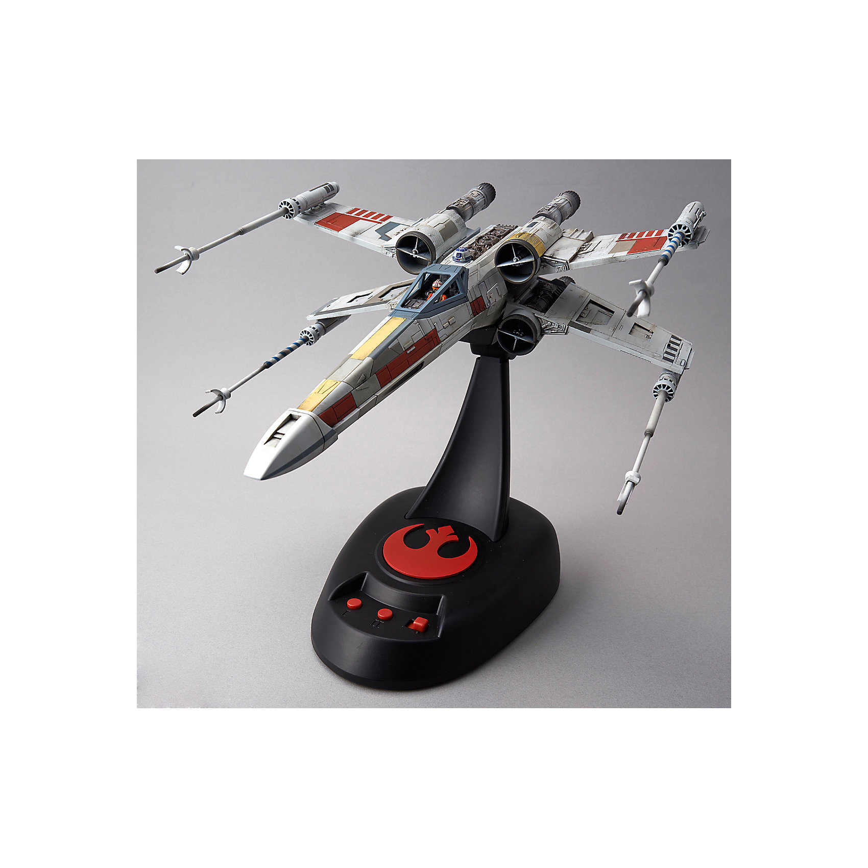 BANDAI Сборная модель Истребитель X-Wing Fighter 1/48, со светом и звуком, Звездные Войны lepin 05040 y wing attack fighter 10134 star series wars model building block brick kits compatible assembling gift toys