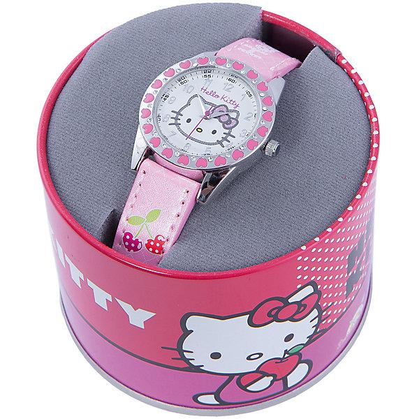 Часы наручные аналоговые, Hello KittyДетские гаджеты<br>Эксклюзивные наручные аналоговые часы торговой марки Hello Kitty выполнены по индивидуальному дизайну ООО «Детское Время» и лицензии компании Sanrio. Обилие деталей - декоративных элементов (страз, мерцающих ремешков), надписей,  уникальных изображений - делают изделие тщательно продуманным творением мастеров. Часы имеют высококачественный японский кварцевый механизм и отличаются надежностью и точностью хода. Часы водоустойчивы и обладают достаточной герметичностью, чтобы спокойно перенести случайный и незначительный контакт с жидкостями (дождь, брызги), но они не предназначены для плавания или погружения в воду. Циферблат защищен от повреждений прочным минеральным стеклом. Корпус часов выполнен из стали,  задняя крышка из нержавеющей стали. Материал браслета: искусственная кожа. Единица товара упаковывается в стильную подарочную коробочку. Неповторимый стиль с изобилием насыщенных и в тоже время нежных гамм; надежность и прочность изделия позволяют говорить о нем только в превосходной степени!<br><br>Ширина мм: 170<br>Глубина мм: 157<br>Высота мм: 67<br>Вес г: 117<br>Возраст от месяцев: 36<br>Возраст до месяцев: 2147483647<br>Пол: Женский<br>Возраст: Детский<br>SKU: 4424069