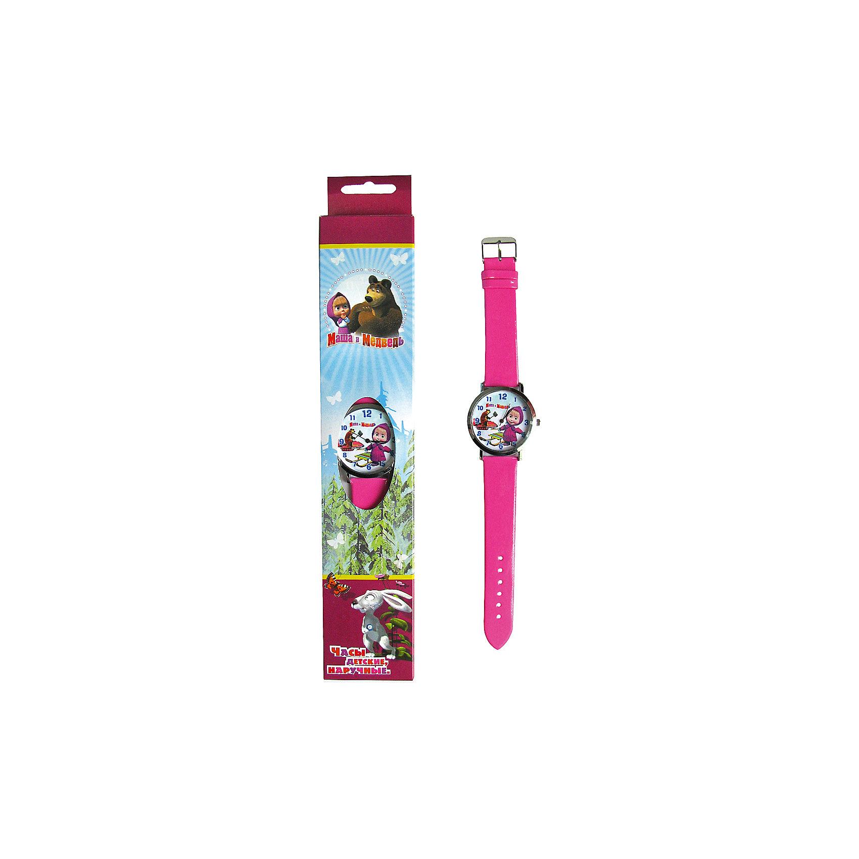 Часы наручные Маша и МедведьДетские наручные часы с изображением любимого героя Маша и Медведь будут отличным подарком для Вашей модницы. <br>Отличительные особенности данных часов: <br>Размер корпуса: 40<br>Цвет: розовый<br>Длина браслета (см):19<br>Ширина браслета (мм):18<br>Материал браслета: пластик<br>Материал корпуса: металл<br>Разер корпуса: 40<br>Водонепроницаемость: 3 Атм<br>Механизм: кварцевый<br>Тип механизма: Miyota<br><br>Ширина мм: 170<br>Глубина мм: 157<br>Высота мм: 67<br>Вес г: 117<br>Возраст от месяцев: 36<br>Возраст до месяцев: 2147483647<br>Пол: Унисекс<br>Возраст: Детский<br>SKU: 4424922