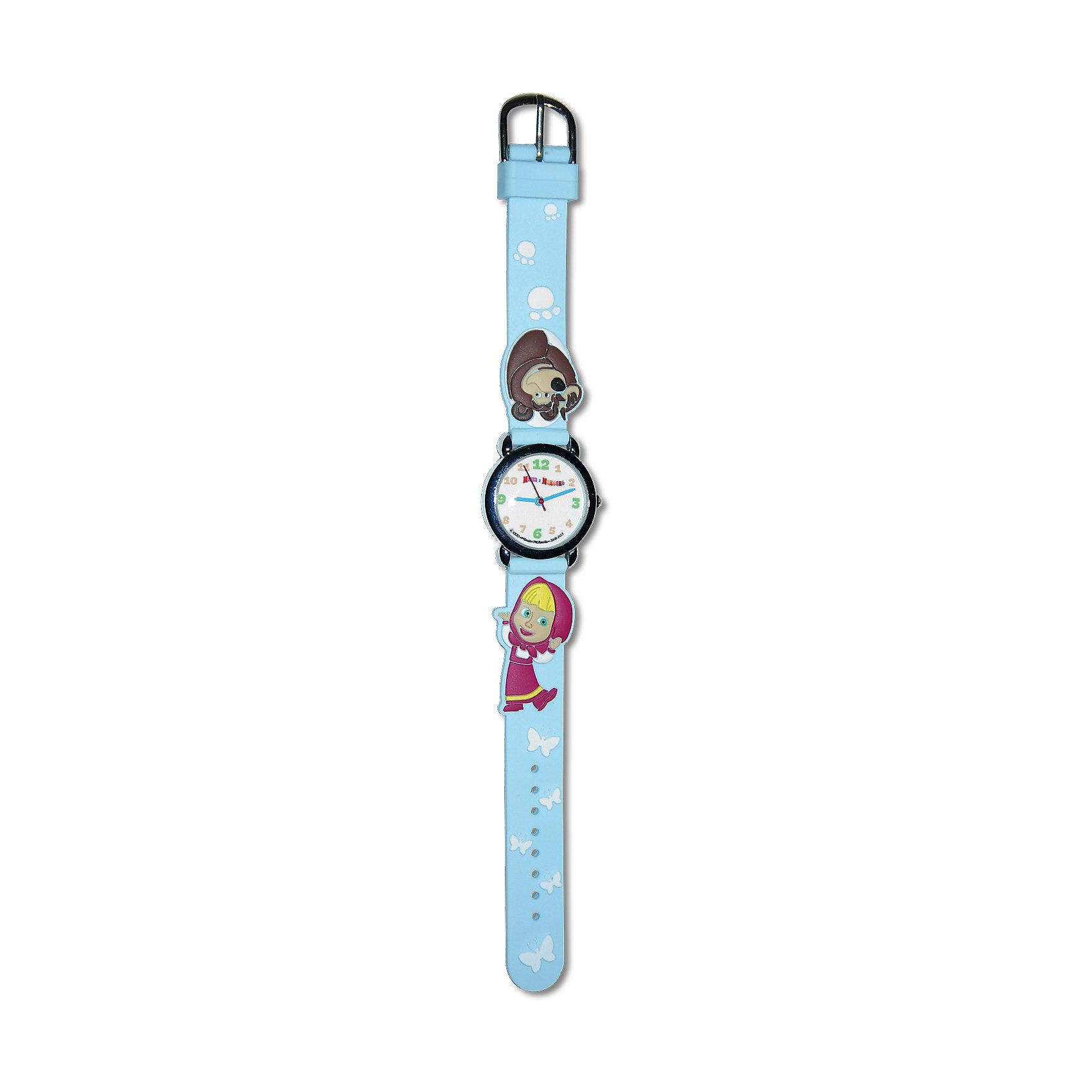 Часы наручные Маша и МедведьДетские наручные часы с изображением любимого героя Маша и Медведь будут отличным подарком для Вашей модницы. <br>Отличительные особенности данных часов: <br>Размер корпуса: 27<br>Цвет: голубой<br>Длина браслета (см):19<br>Ширина браслета (мм):14<br>Материал браслета: силикон<br>Материал корпуса: металл<br>Разер корпуса: 27<br>Водонепроницаемость: 3 Атм<br>Механизм: кварцевый<br>Тип механизма: Miyota<br><br>Ширина мм: 170<br>Глубина мм: 157<br>Высота мм: 67<br>Вес г: 117<br>Возраст от месяцев: 36<br>Возраст до месяцев: 2147483647<br>Пол: Унисекс<br>Возраст: Детский<br>SKU: 4424923