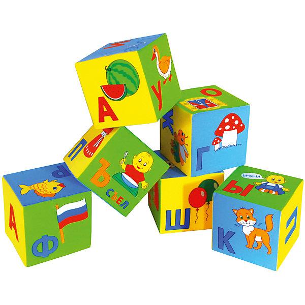 Кубики Умная Азбука, МякишиРазвивающие игрушки<br>Кубики Умная Азбука, Мякиши - это универсальное учебное пособие, которое в веселой игровой форме познакомит Вашего ребенка с буквами алфавита, научит складывать слоги и слова. В комплект входят шесть красочных кубиков, на гранях которых изображены буквы и яркие картинки к ним (всего 33 буквы). Специально разработанный крупный шрифт, цветовое разделение букв на гласные и согласные и лёгкие понятные иллюстрации помогут малышу сделать первые успехи в освоении алфавита. В пособии использованы только реальные и современные слова и образы. Из кубиков можно сложить более 50 слов, входящих в лексикон детей раннего возраста и свыше 100 слов, входящие в лексикон взрослого. Игрушка изготовлена из мягких, приятных на ощупь гипоаллергенных материалов. Способствует развитию сенсорных способностей, мелкой моторики и координации обеих рук. <br><br>Дополнительная информация:<br><br>- Комплект: 6 кубиков.<br>- Материал:100% х/б ткань, поролон.<br>- Размер одного кубика: 15 х 15 х 15 см.<br>- Размер упаковки: 45 х 15 х 30 см.<br>- Вес: 150 гр.<br><br>Кубики Умная Азбука, Мякиши, можно купить в нашем интернет-магазине.<br>Ширина мм: 450; Глубина мм: 150; Высота мм: 300; Вес г: 150; Возраст от месяцев: 12; Возраст до месяцев: 36; Пол: Унисекс; Возраст: Детский; SKU: 4424931;