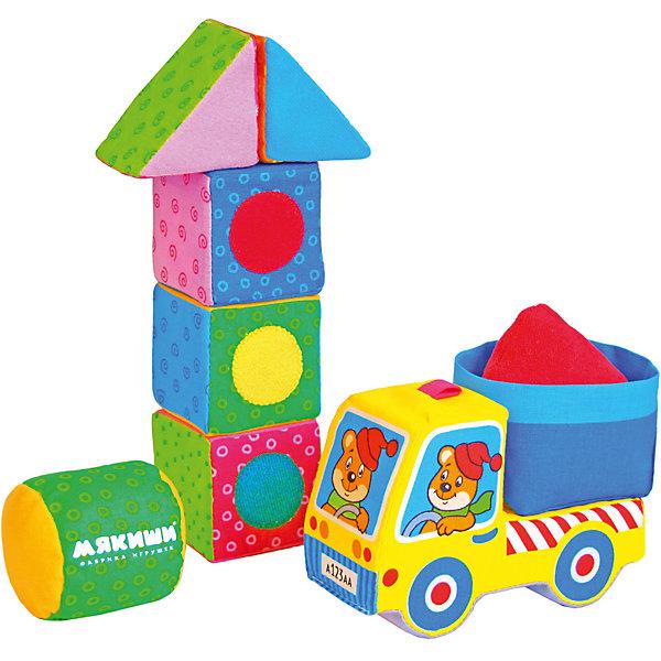 Кубики-конструктор «Светофор»Развивающие игрушки<br>Кубики-конструктор Светофор, Мякиши, создан для самых маленьких строителей. В комплект входят яркие красочные детали разных форм, выполненные из мягких текстильных материалов, а также мягкая машинка. Набор поможет обучить ребенка основным способам конструирования, развить его речевые способности и воображение. Мягкие разноцветные детали, украшенные аппликацией позволят собрать множество удивительных конструкций. Изготовлено из гипоаллергенных материалов. <br><br>Дополнительная информация:<br><br>- Комплект: 2 треугольника, 3 кубика, 1 цилиндр.<br>- Материал: 100% х/б ткань, трикотажное полотно, поролон, тяжёлая гранулированная насыпка, холлофайбер, швейная фурнитура, звуковые элементы.<br>- Размеры элементов: кубик - 6 х 6 х 6 см., треугольник - 6 х 6 х 6 см., цилиндр - 6 х 6 см., машинка - 16 х 6 х 13 см. <br>- Размер упаковки: 22,5 х 6 х 3 см.<br>- Вес: 0,25 кг.<br><br>Кубики-конструктор Светофор, Мякиши, можно купить в нашем интернет-магазине.<br><br>Ширина мм: 225<br>Глубина мм: 60<br>Высота мм: 30<br>Вес г: 250<br>Возраст от месяцев: 12<br>Возраст до месяцев: 36<br>Пол: Унисекс<br>Возраст: Детский<br>SKU: 4424934
