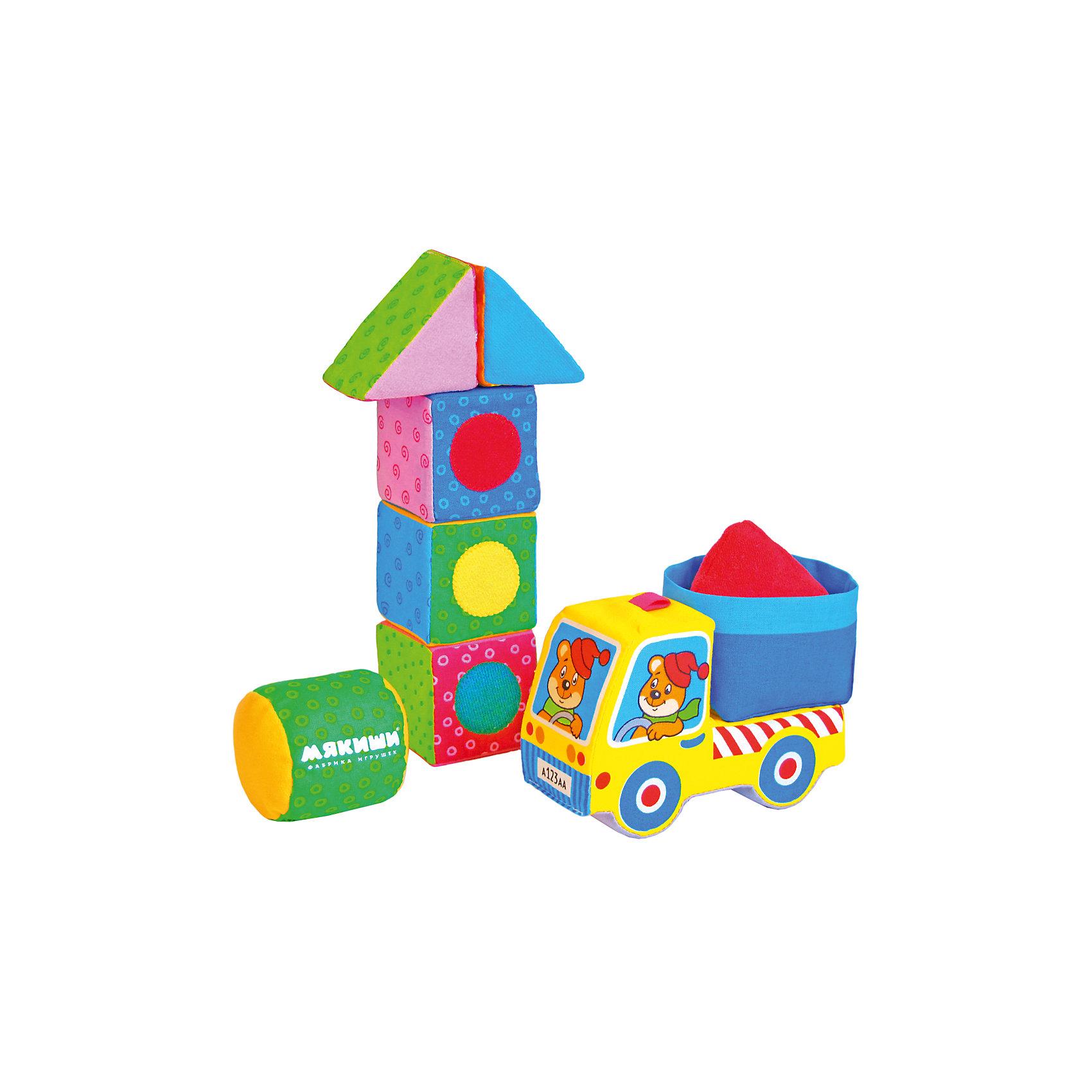 Кубики-конструктор «Светофор»Кубики<br>Кубики-конструктор Светофор, Мякиши, создан для самых маленьких строителей. В комплект входят яркие красочные детали разных форм, выполненные из мягких текстильных материалов, а также мягкая машинка. Набор поможет обучить ребенка основным способам конструирования, развить его речевые способности и воображение. Мягкие разноцветные детали, украшенные аппликацией позволят собрать множество удивительных конструкций. Изготовлено из гипоаллергенных материалов. <br><br>Дополнительная информация:<br><br>- Комплект: 2 треугольника, 3 кубика, 1 цилиндр.<br>- Материал: 100% х/б ткань, трикотажное полотно, поролон, тяжёлая гранулированная насыпка, холлофайбер, швейная фурнитура, звуковые элементы.<br>- Размеры элементов: кубик - 6 х 6 х 6 см., треугольник - 6 х 6 х 6 см., цилиндр - 6 х 6 см., машинка - 16 х 6 х 13 см. <br>- Размер упаковки: 22,5 х 6 х 3 см.<br>- Вес: 0,25 кг.<br><br>Кубики-конструктор Светофор, Мякиши, можно купить в нашем интернет-магазине.<br><br>Ширина мм: 225<br>Глубина мм: 60<br>Высота мм: 30<br>Вес г: 250<br>Возраст от месяцев: 12<br>Возраст до месяцев: 36<br>Пол: Унисекс<br>Возраст: Детский<br>SKU: 4424934