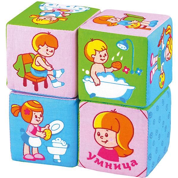 Кубики Режим дня, МякишиРазвивающие игрушки<br>Кубики Режим дня, Мякиши, в веселой игровой форме поможет приучить малыша к распорядку дня: умываться, убирать за собой игрушки, заправлять постель и выполнять другие полезные действия. Игрушка выполнена в виде мягких красочных кубиков, на трех из них изображены 16 заданий для малыша на каждый день, на четвертом кубике изображены молодец и умница для оценки деятельности малыша. Форма и содержание набора разработаны с учётом возрастных особенностей ребёнка. Красочные кубики с картинками-заданиями сделают обучение доступным и интересным. Ребенок узнает и сможет запомнить основные и дополнительные цвета, обязательные ежедневные дела, которые есть у каждого человека, научится соотносить время суток и соответствующие трудовые и бытовые действия людей. Кубики изготовлены из мягких, приятных на ощупь гипоаллергенных материалов. Способствуют развитию у малыша мышления, речи, мелкой моторики, памяти, внимания, усидчивости, самостоятельности.<br><br>Дополнительная информация:<br><br>- В комплекте: 4 кубика.<br>- Материал: 100% х/б ткань, поролон.<br>- Размер кубика: 8 х 8 см. <br>- Размер упаковки: 28 х 17 х 8 см.<br>- Вес: 0,2 кг.<br><br>Кубики Режим дня, Мякиши, можно купить в нашем интернет-магазине.<br><br>Ширина мм: 280<br>Глубина мм: 170<br>Высота мм: 80<br>Вес г: 200<br>Возраст от месяцев: 12<br>Возраст до месяцев: 36<br>Пол: Унисекс<br>Возраст: Детский<br>SKU: 4424935