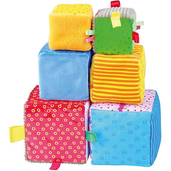 Игрушка Умные кубики, МякишиРазвивающие игрушки<br>Умные кубики, Мякиши - красочный развивающий набор, который обязательно привлечет внимание Вашего малыша. Это не просто яркие кубики, а целый игровой комплекс со множеством развивающих и дидактических возможностей. В наборе шесть мягких кубиков трех размеров, изготовленных из разнообразных по цвету и фактуре материалов и с разными наполнителями. Грани кубиков украшены занимательными для малыша деталями, которые он с интересом будет исследовать - цветные разнофактурные петельки, цветная тесьма, пуговички, зашитые под сеточку. Из кубиков можно не только строить башенки и различные конструкции, но и поиграть в 10 умных игр. Игровые упражнения с Умными кубиками обогащают опыт тактильных ощущений ребенка, стимулируют речевое развитие, формируют представления о свойствах предметов, развивают внимание и зрительную память. Изготовлено из гипоаллергенных материалов. <br><br>Дополнительная информация:<br><br>- В комплекте: 6 кубиков.<br>- Материал: 100% х/б ткань, трикотаж, искусственный мех, вельвет, плащевка, полиэтилен, сетка, поролон, синтепон.<br>- Размер кубиков: два кубика 6 х 6 см., два кубика 8 х 8 см., два кубика 10 х 10 см.<br>- Размер упаковки: 24 x 12 x 30 см.<br>- Вес: 150 гр.<br><br>Игрушку Умные кубики, Мякиши, можно купить в нашем интернет-магазине.<br><br>Ширина мм: 230<br>Глубина мм: 100<br>Высота мм: 100<br>Вес г: 150<br>Возраст от месяцев: 12<br>Возраст до месяцев: 36<br>Пол: Унисекс<br>Возраст: Детский<br>SKU: 4424936