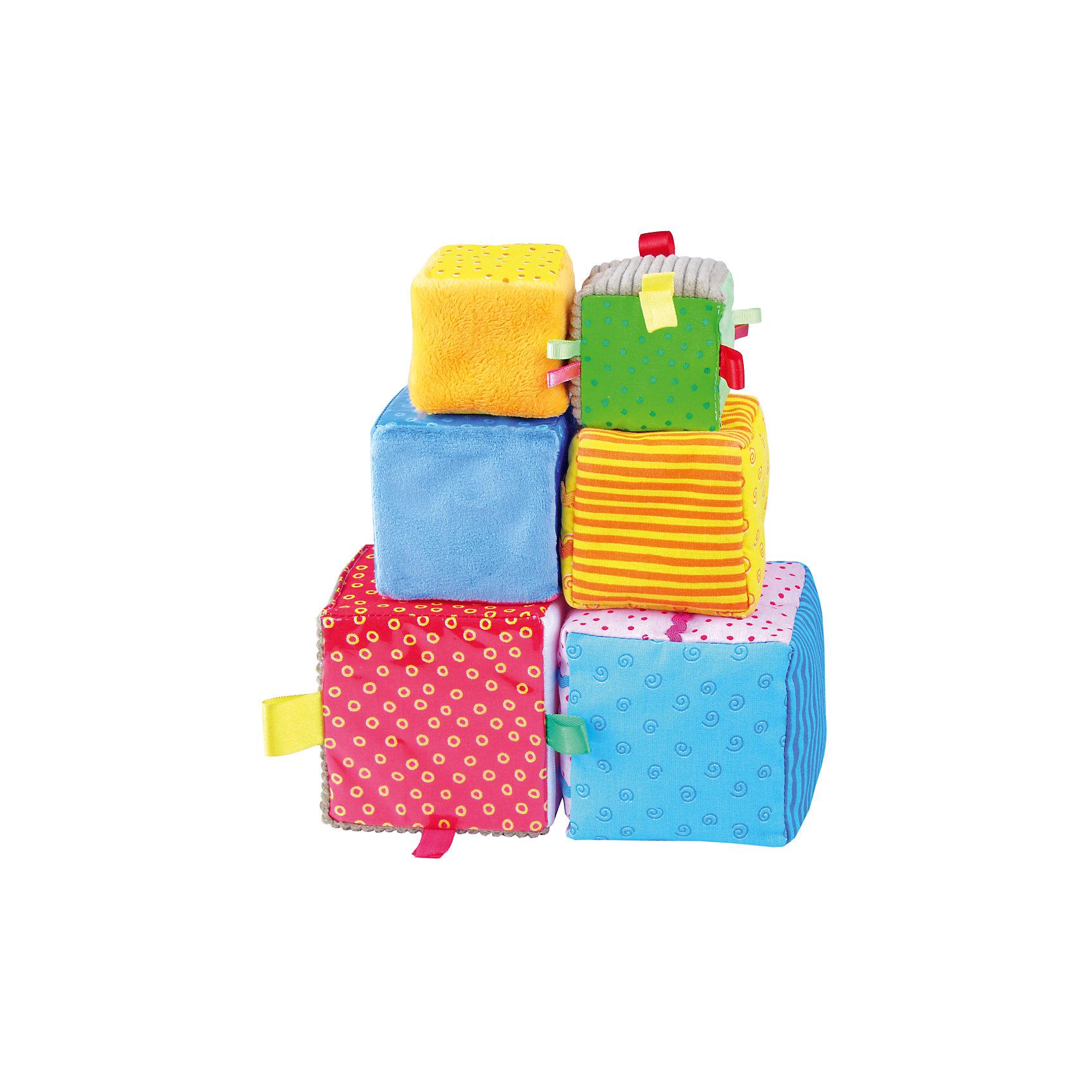 Игрушка Умные кубики, МякишиКубики<br>Умные кубики, Мякиши - красочный развивающий набор, который обязательно привлечет внимание Вашего малыша. Это не просто яркие кубики, а целый игровой комплекс со множеством развивающих и дидактических возможностей. В наборе шесть мягких кубиков трех размеров, изготовленных из разнообразных по цвету и фактуре материалов и с разными наполнителями. Грани кубиков украшены занимательными для малыша деталями, которые он с интересом будет исследовать - цветные разнофактурные петельки, цветная тесьма, пуговички, зашитые под сеточку. Из кубиков можно не только строить башенки и различные конструкции, но и поиграть в 10 умных игр. Игровые упражнения с Умными кубиками обогащают опыт тактильных ощущений ребенка, стимулируют речевое развитие, формируют представления о свойствах предметов, развивают внимание и зрительную память. Изготовлено из гипоаллергенных материалов. <br><br>Дополнительная информация:<br><br>- В комплекте: 6 кубиков.<br>- Материал: 100% х/б ткань, трикотаж, искусственный мех, вельвет, плащевка, полиэтилен, сетка, поролон, синтепон.<br>- Размер кубиков: два кубика 6 х 6 см., два кубика 8 х 8 см., два кубика 10 х 10 см.<br>- Размер упаковки: 24 x 12 x 30 см.<br>- Вес: 150 гр.<br><br>Игрушку Умные кубики, Мякиши, можно купить в нашем интернет-магазине.<br><br>Ширина мм: 230<br>Глубина мм: 100<br>Высота мм: 100<br>Вес г: 150<br>Возраст от месяцев: 12<br>Возраст до месяцев: 36<br>Пол: Унисекс<br>Возраст: Детский<br>SKU: 4424936