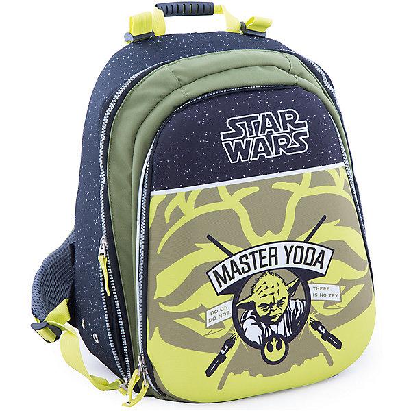 Эргономичный рюкзак Магистр Йода, Звездные войныЗвездные войны<br>Рюкзак с эргономичной спинкой Магистр Йода, Звездные войны – это вместительный рюкзак, отличный подарок поклонникам вселенной Star Wars!<br>Удобный рюкзак с эргономичной спинкой выполнен из полиэстера зеленого и черного цветов и оформлен оригинальным рисунком с изображением Мастера Йоды. Твердая спинка рюкзака с мягкими анатомическими вставками выполнена из воздухопроницаемого материала. Широкие мягкие регулируемые анатомические лямки позволяют снизить нагрузку на плечи. Имеется удобная ручка для переноски и светоотражающие вставки. Рюкзак оснащен одним основным отделением, закрывающимся на застежку-молнию. На внешней стороне расположен вместительный накладной карман на застежке-молнии, содержащий шесть накладных кармашков, а также два кармашка для ручек и карандашей.<br><br>Дополнительная информация:<br><br>- Материал: полиэстер<br>- Размер: 42 х 30 х 23 см.<br>- Вес: 955 гр.<br><br>Рюкзак с эргономичной спинкой Магистр Йода, Звездные войны можно купить в нашем интернет-магазине.<br><br>Ширина мм: 420<br>Глубина мм: 23<br>Высота мм: 30<br>Вес г: 1348<br>Возраст от месяцев: 72<br>Возраст до месяцев: 204<br>Пол: Мужской<br>Возраст: Детский<br>SKU: 4426624