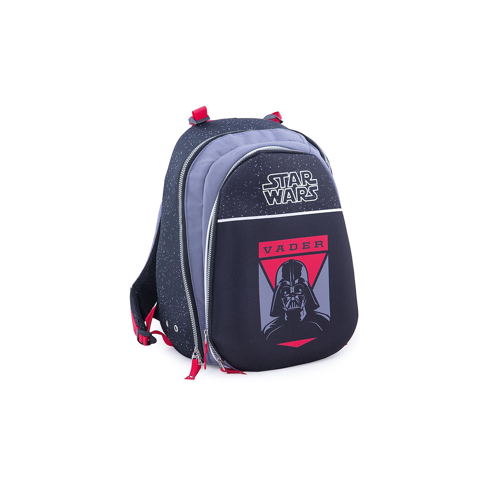 Эргономичный рюкзак Дарт Вейдер, Звездные войныРюкзаки<br>Рюкзак с эргономичной спинкой Дарт Вейдер, Звездные войны – это вместительный рюкзак, отличный подарок поклонникам вселенной Star Wars!<br>Удобный рюкзак с эргономичной спинкой выполнен из полиэстера черного и красного цветов и оформлен оригинальным рисунком с изображением Темного Лорда Дарта Вейдера. Твердая спинка рюкзака с мягкими анатомическими вставками выполнена из воздухопроницаемого материала. Широкие мягкие регулируемые анатомические лямки позволяют снизить нагрузку на плечи. Имеется удобная ручка для переноски и светоотражающие вставки. Рюкзак оснащен одним основным отделением, закрывающимся на застежку-молнию. На внешней стороне расположен вместительный накладной карман на застежке-молнии, содержащий шесть накладных кармашков, а также два кармашка для ручек и карандашей.<br><br>Дополнительная информация:<br><br>- Материал: полиэстер<br>- Размер: 42 х 30 х 23 см.<br>- Вес: 955 гр.<br><br>Рюкзак с эргономичной спинкой Дарт Вейдер, Звездные войны можно купить в нашем интернет-магазине.<br><br>Ширина мм: 420<br>Глубина мм: 23<br>Высота мм: 30<br>Вес г: 1348<br>Возраст от месяцев: 132<br>Возраст до месяцев: 204<br>Пол: Мужской<br>Возраст: Детский<br>SKU: 4426625