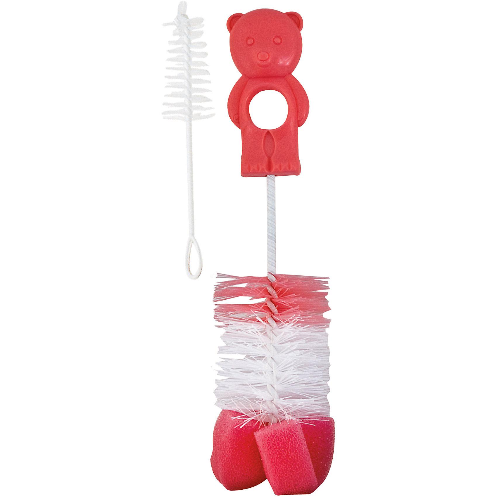 Ёршик для мытья детских бутылок, Canpol Babies, розовыйЕршик для бутылочек Canpol Babies позволит качественно удалить остатки пищи из бутылочки, не повредив поверхности!<br>Ершик предназначен для тщательной очистки бутылочек перед стерилизацией. Для того чтобы обеспечить удобную и тщательную очистку, ершик снабжен вращающейся изогнутой ручкой, а конец ершика сделан из мягкой губки специальной формы. Благодаря этому очистка будет бережной и не оставит царапин на поверхности. <br>В комплект также входит маленькая кисточка / губка для чистки сосок.<br>Ершик для бутылочек Canpol Babies можно купить в нашем интернет-магазине.<br><br>Внимание! Товар может быть как в новом, так и в старом дизайне.<br><br>Ширина мм: 390<br>Глубина мм: 102<br>Высота мм: 50<br>Вес г: 39<br>Возраст от месяцев: 1<br>Возраст до месяцев: 18<br>Пол: Женский<br>Возраст: Детский<br>SKU: 4433943