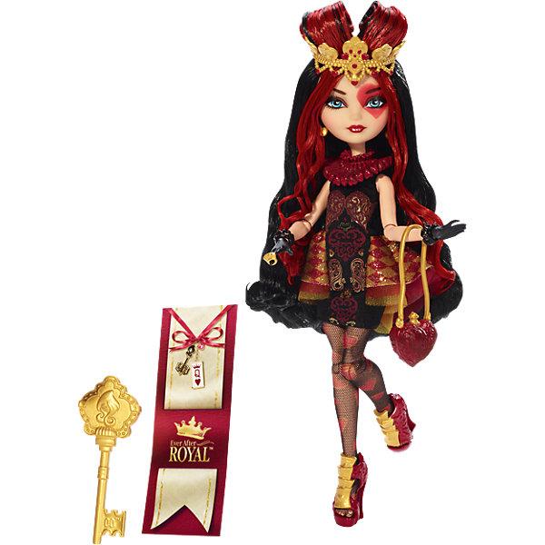 Кукла Лиззи Хартс, Ever After HighБренды кукол<br>Кукла Лиззи Хартс – дочь Червонной Королевы. Из-за советов матери она немного груба, но очень хочет стать лучше. <br>Лиззи – невысокая, но очень милая девочка. Она сделана на низкорослом теле, как Меделин, но не теряет всей своей величественности и красоты при этом. У Лиззи красная закладка, золотой ключ-расчёска и золотая подставка. Самое необычное в Лиззи – это её прическа. У неё длинные черные волосы с красными прядями, часть которых закреплены сердечком сверху, при помощи её чудной золотистой короны с сердцами. У неё нежный цвет кожи, а на левом глазу красуется ярко-красное сердце. Глаза у неё отдельно красивы – ярко-голубые. На зрачках у неё белые очаровательные сердечки. В ушках сережки в виде сердец на цепочках, а пухлые губы – темно-красного оттенка. На шее и плечах у неё большой прозрачный воротник с сердцами, что делает её особенно царственной. Её кисти рук окрашены в черный цвет и завершаются черными браслетами, имитируя перчатки. На правой ручке – золотое колечко. У неё черное платье с принтом из красных сердец и широкой оборкой-подолом по бокам платья. На ножках – черные сетчатые колготки с сердечным принтом. На ножках – оригинальные туфельки с золотыми картами на передней стороне туфель. Вместе с куклой идет стильная сумочка в виде красного узорного сердца с ремешком. <br><br>Дополнительная информация:<br><br>- возраст: от 6 лет<br>- пол: для девочек<br>- комплект: кукла, аксессуары.<br>- материал: пластик, текстиль.<br>- размер упаковки: 20 * 32.5 * 6.5 см.<br>- упаковка: блистер на картоне.<br>- высота куклы: 27 см.<br>- страна обладатель бренда: США.<br>- в комплект входит: буклет с историей персонажа, сумочка, диадема, позолоченный браслет и съемный корсет<br>- руки и ноги с несколькими точками артикуляции (сгибаются локти, коленки, запястья)<br><br><br>Куклу Лиззи Хартс торговой марки    Ever After High (Эвер Афтер Хай) можно купить в нашем интернет-магазине<br><br>Ширина мм: 329<br>Глубина мм: 205