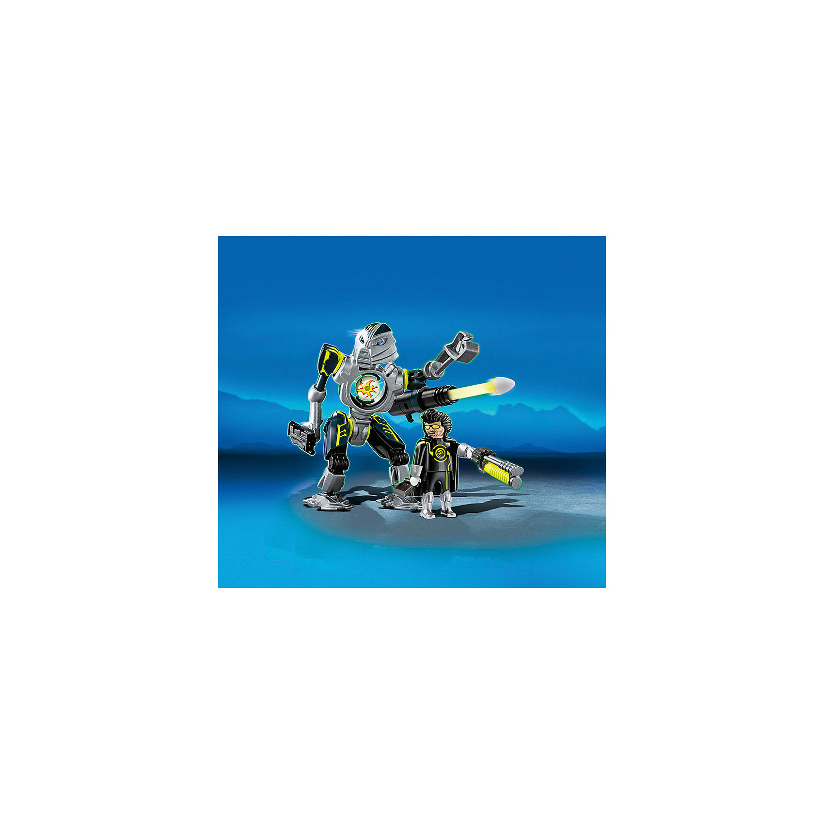 PLAYMOBIL® PLAYMOBIL 5289 Секретный агент: Мега робот с бластером playmobil мальчики с гоночным мотоциклом