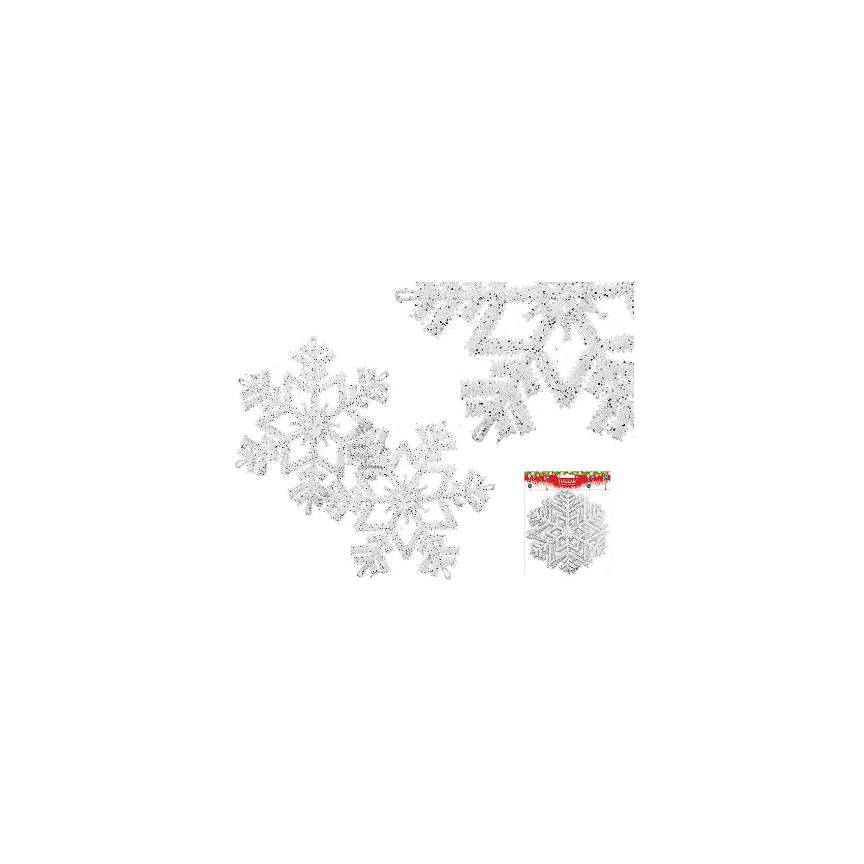 Набор украшений Снежинки с блестками (2 шт), диаметр 16 смВсё для праздника<br>Набор украшений Снежинки с блестками (2 шт), диаметр 16 см - этот новогодний аксессуар создаст праздничное настроение.<br>Набор украшений Снежинки с блестками станет замечательным украшением интерьера и поможет создать волшебную атмосферу праздника. Пластиковые снежинки белого цвета, декорированные блестками, будут прекрасно смотреться на новогодней елке, и радовать детей и взрослых.<br><br>Дополнительная информация:<br><br>- В наборе: 2 шт.<br>- Диаметр: 16 см.<br>- Материал: пластик<br>- Цвет: белый<br><br>Набор украшений Снежинки с блестками (2 шт), диаметр 16 см можно купить в нашем интернет-магазине.<br><br>Ширина мм: 160<br>Глубина мм: 160<br>Высота мм: 10<br>Вес г: 100<br>Возраст от месяцев: 36<br>Возраст до месяцев: 2147483647<br>Пол: Унисекс<br>Возраст: Детский<br>SKU: 4437439