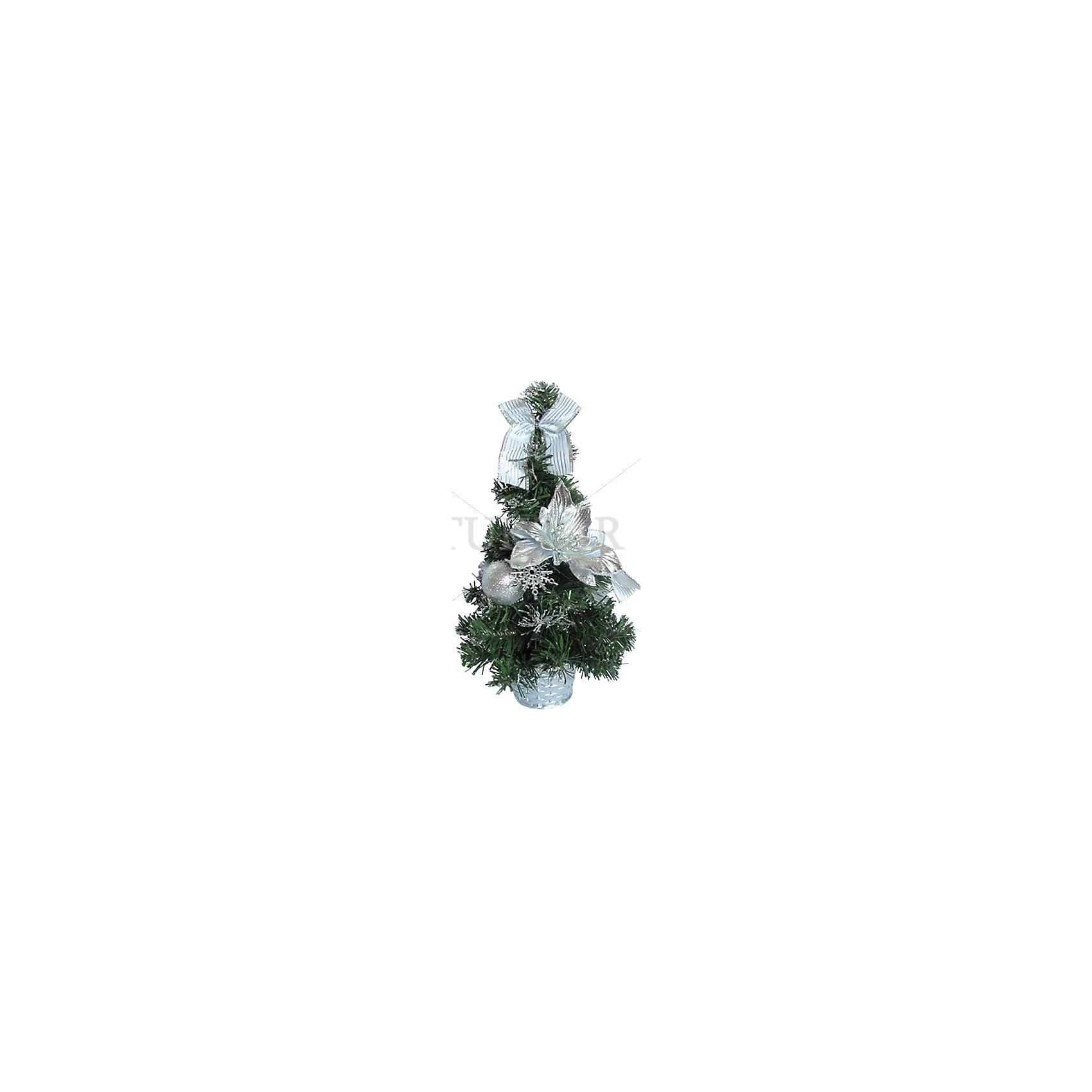 Декоративная елка с серебряными украшениями, 30 смВсё для праздника<br>Декоративная елка с серебряными украшениями, 30 см - этот новогодний аксессуар создаст праздничное настроение.<br>Декоративная елка станет замечательным украшением Вашего интерьера и приятным сувениром для родных и друзей. Нарядная, миниатюрная елочка порадует и взрослых и детей и создаст волшебную атмосферу новогодних праздников. Ёлка украшена красивыми серебристыми игрушками и бантами, имеет подставку в виде горшочка. Благодаря компактному размеру ёлку можно поставить в любой комнате.<br><br>Дополнительная информация:<br><br>- Высота: 30 см.<br>- Размер упаковки: 30х20х20 см.<br>- Вес: 500 гр.<br><br>Декоративную елку с серебряными украшениями, 30 см можно купить в нашем интернет-магазине.<br><br>Ширина мм: 300<br>Глубина мм: 200<br>Высота мм: 200<br>Вес г: 500<br>Возраст от месяцев: 36<br>Возраст до месяцев: 2147483647<br>Пол: Унисекс<br>Возраст: Детский<br>SKU: 4437440