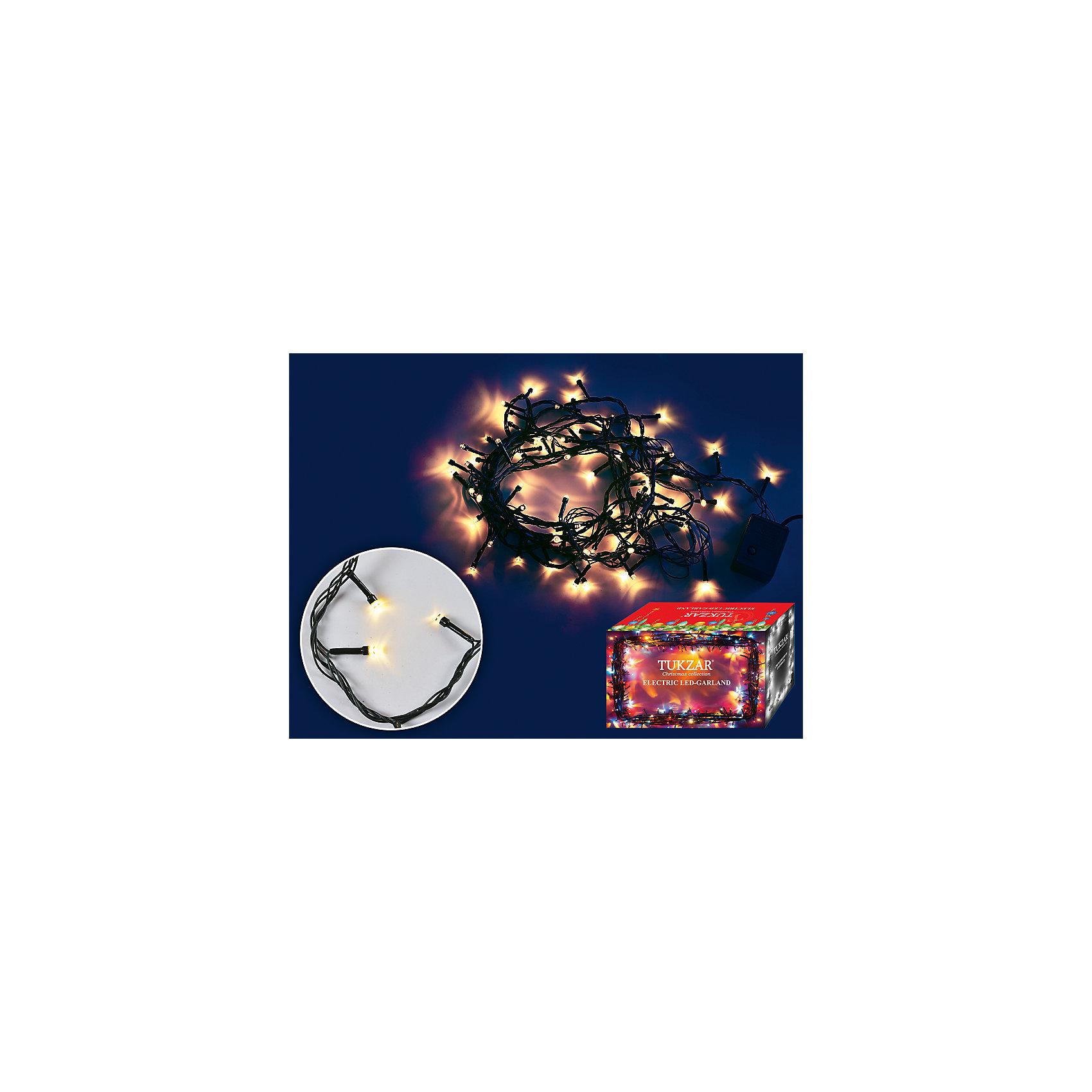 Светодиодная гирлянда 5 м, 80 лампСветодиодная гирлянда 5 м, 80 ламп – этот аксессуар принесет в ваш дом волшебство и красоту праздника.<br>Светодиодная гирлянда, станет замечательным украшением Вашей новогодней елки или интерьера и поможет создать праздничную волшебную атмосферу. Гирлянда состоит из 80 ламп, светится теплым белым цветом, работает в 8 режимах мигания. Она будет чудесно смотреться на елке, и радовать детей и взрослых.<br><br>Дополнительная информация:<br><br>- Количество ламп: 80 (теплый белый цвет)<br>- Длина гирлянды: 5 м.<br>- Зеленый провод<br>- Размер упаковки: 20х10х10 см.<br>- Вес: 500 гр.<br><br>Светодиодную гирлянду 5 м, 80 ламп можно купить в нашем интернет-магазине.<br><br>Ширина мм: 200<br>Глубина мм: 100<br>Высота мм: 100<br>Вес г: 500<br>Возраст от месяцев: 36<br>Возраст до месяцев: 2147483647<br>Пол: Унисекс<br>Возраст: Детский<br>SKU: 4437444