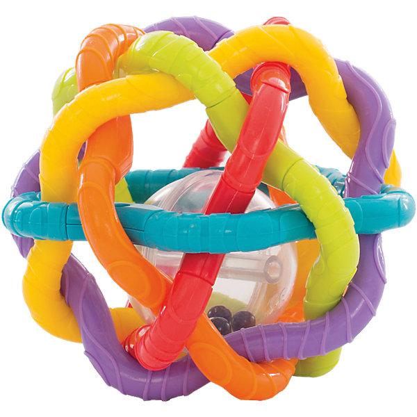 Игрушка-погремушка Шар, PlaygroИгрушки для новорожденных<br>Шар представляет собой переплетение разноцветных пластиковых прутьев с рифленой поверхностью, внутри находится пластиковый мяч с бусинами, которые подскакивают и весело гремят при малейшем движении. Конструкция и размеры шара разработаны с учетом строения маленьких ручек ребенка, малышу удобно взять его в руки, покрутить, покатать по полу, переносить с места на место, как это любят делать маленькие непоседы. Игрушка способствует развитию тактильных ощущений, моторики, когнитивных навыков, осознанию причинно-следственных связей.<br>Ширина мм: 145; Глубина мм: 205; Высота мм: 121; Вес г: 233; Возраст от месяцев: 6; Возраст до месяцев: 24; Пол: Унисекс; Возраст: Детский; SKU: 4440498;