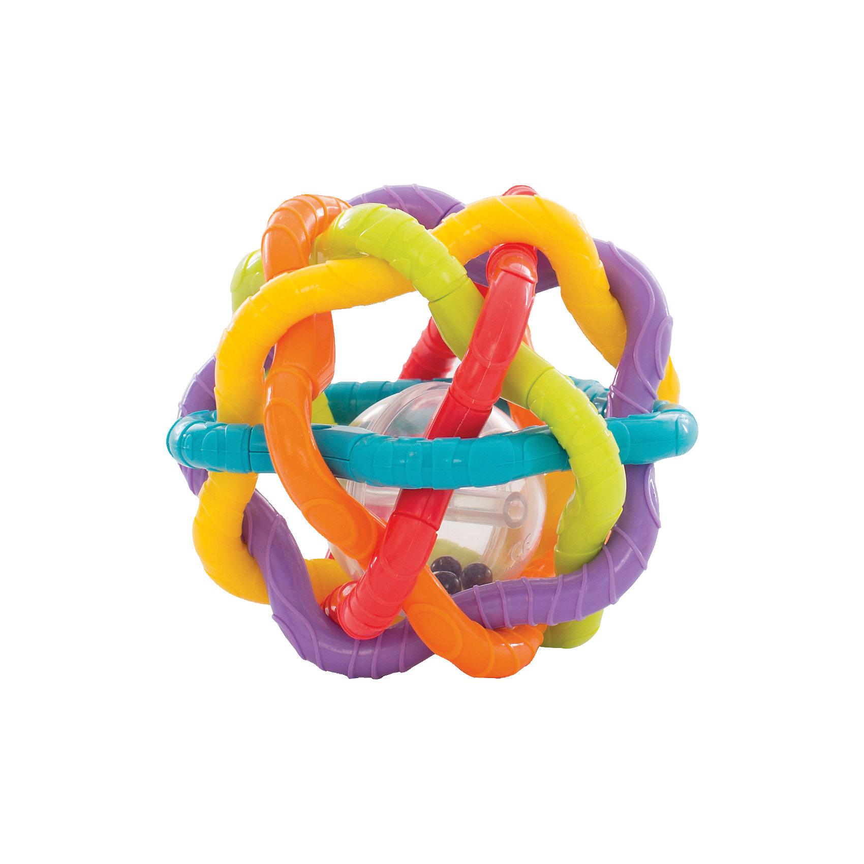 Игрушка-погремушка Шар, PlaygroПогремушки<br>Шар представляет собой переплетение разноцветных пластиковых прутьев с рифленой поверхностью, внутри находится пластиковый мяч с бусинами, которые подскакивают и весело гремят при малейшем движении. Конструкция и размеры шара разработаны с учетом строения маленьких ручек ребенка, малышу удобно взять его в руки, покрутить, покатать по полу, переносить с места на место, как это любят делать маленькие непоседы. Игрушка способствует развитию тактильных ощущений, моторики, когнитивных навыков, осознанию причинно-следственных связей.<br><br>Ширина мм: 172<br>Глубина мм: 159<br>Высота мм: 121<br>Вес г: 233<br>Возраст от месяцев: 6<br>Возраст до месяцев: 24<br>Пол: Унисекс<br>Возраст: Детский<br>SKU: 4440498