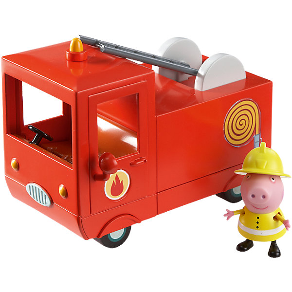 Пожарная машина Пеппы, Свинка ПеппаСвинка Пеппа<br>Свинка Пеппа спешит на помощь! В защитной форме и шлеме пожарника она отважно тушит огонь и спасает своих друзей. И все это благодаря ее пожарной машине – точно такой же, как и в мультфильме! В ней есть кабина с открывающимися дверками и углублениями на сидении для двух фигурок, подвижная пожарная лестница, декоративные зеркала и мигалка. С ней не страшен никакой пожар!<br><br>Дополнительная информация:<br><br>В игровом наборе «Пожарная машина Пеппы» ТМ «Peppa Pig» 2 предмета: красная пожарная машина размером 14х9,5х7см, фигурка Свинки Пеппы высотой 5,5 см с двигающимися ручками и ножками, которая может стоять и сидеть. Игрушки выполнены из высококачественного пластика и безопасны для детского использования. <br><br>Пожарную машину Пеппы, Свинка Пеппа можно купить в нашем магазине.<br>Ширина мм: 200; Глубина мм: 130; Высота мм: 140; Вес г: 368; Возраст от месяцев: 36; Возраст до месяцев: 72; Пол: Унисекс; Возраст: Детский; SKU: 4440527;
