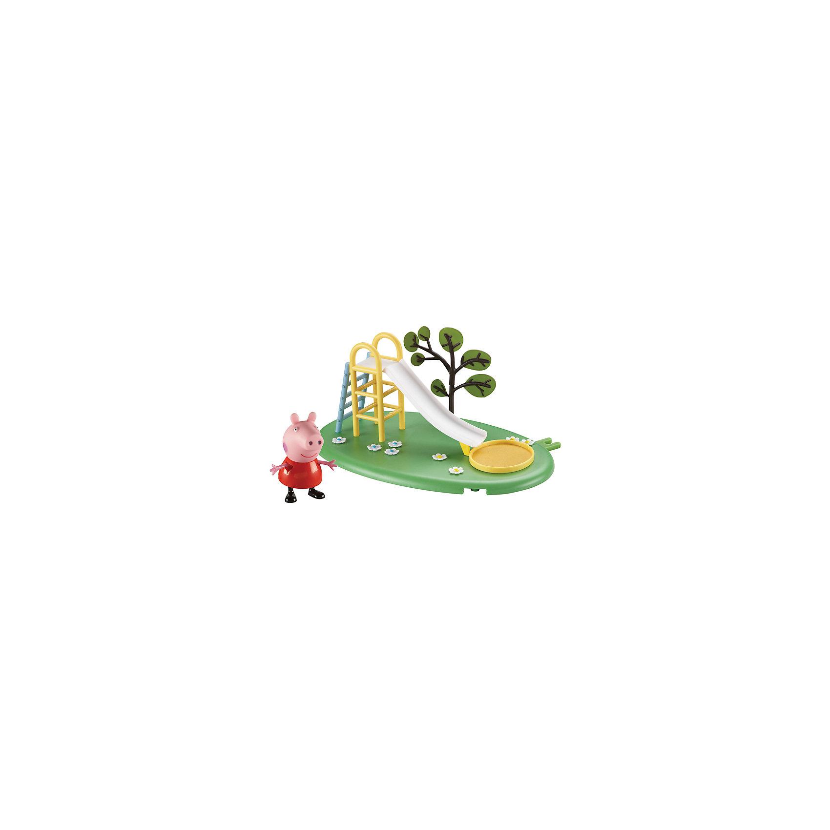 Росмэн Игровая площадка Горка Пеппы, Свинка Пеппа росмэн игровой набор поезд пеппы неваляшки свинка пеппа