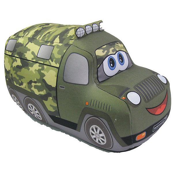 Служебная машина Д18, арт. 2820/ЗЛ/18Подушки-антистресс<br>Служебная машина Д18, арт. 2820/ЗЛ/18 – это подушка-игрушка, которая снимет напряжение и поднимет настроение.<br>Мягкая подушка-антистресс в виде военного грузовика, с которым так здорово играть, способна зарядить позитивом и стать аккумулятором хорошего настроения. Она очень эффектна и красива, и создает поистине волшебный релаксирующий эффект. Обшивка выполнена из высокопрочного полиэстера, обладающего повышенной эластичностью. Наполнитель - гранулы пищевого полистирола, диаметр шариков - менее миллиметра. Подушка приятна на ощупь, легка, упруга и всегда хорошо выглядит: как бы сильно ребенок не сжимал ее, она неизменно возвращается в первоначальную форму. Это идеальный рецепт хорошего настроения! Она подходит абсолютно всем, поскольку не вызывают аллергии. Оригинальный стиль и великолепное качество исполнения делают эту подушку-игрушку чудесным подарком к любому празднику.<br><br>Дополнительная информация:<br><br>- Материал верха: высокопрочный полиэстер<br>- Наполнитель: гранулы полистирола<br>- Цвет: зеленый<br>- Размер: 18 см.<br>- Вес: 60 гр.<br><br>Игрушку-антистресс Служебная машина Д18, арт. 2820/ЗЛ/18 можно купить в нашем интернет-магазине.<br>Ширина мм: 180; Глубина мм: 110; Высота мм: 120; Вес г: 60; Возраст от месяцев: 36; Возраст до месяцев: 2147483647; Пол: Унисекс; Возраст: Детский; SKU: 4441603;
