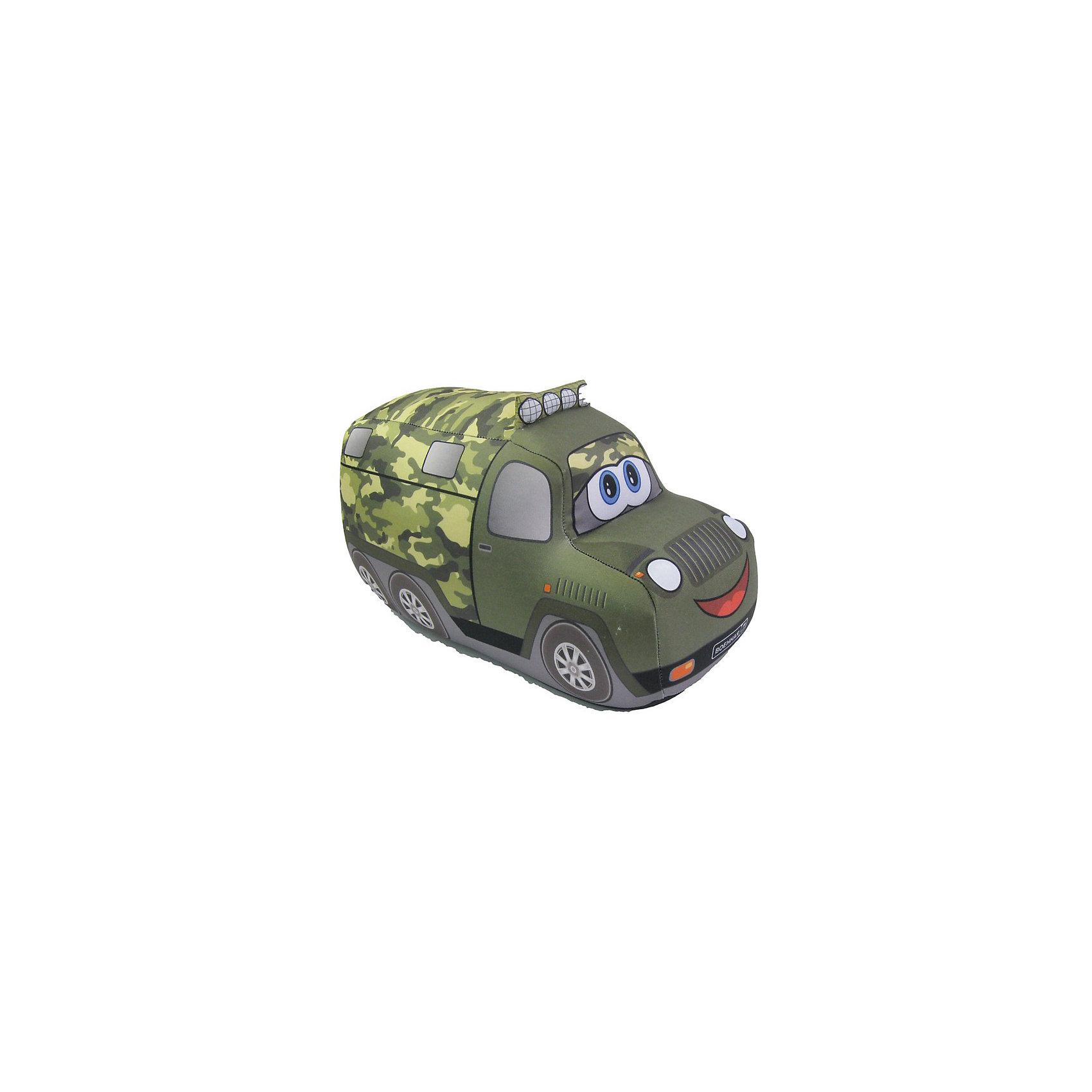 Служебная машина Д18, арт. 2820/ЗЛ/18Служебная машина Д18, арт. 2820/ЗЛ/18 – это подушка-игрушка, которая снимет напряжение и поднимет настроение.<br>Мягкая подушка-антистресс в виде военного грузовика, с которым так здорово играть, способна зарядить позитивом и стать аккумулятором хорошего настроения. Она очень эффектна и красива, и создает поистине волшебный релаксирующий эффект. Обшивка выполнена из высокопрочного полиэстера, обладающего повышенной эластичностью. Наполнитель - гранулы пищевого полистирола, диаметр шариков - менее миллиметра. Подушка приятна на ощупь, легка, упруга и всегда хорошо выглядит: как бы сильно ребенок не сжимал ее, она неизменно возвращается в первоначальную форму. Это идеальный рецепт хорошего настроения! Она подходит абсолютно всем, поскольку не вызывают аллергии. Оригинальный стиль и великолепное качество исполнения делают эту подушку-игрушку чудесным подарком к любому празднику.<br><br>Дополнительная информация:<br><br>- Материал верха: высокопрочный полиэстер<br>- Наполнитель: гранулы полистирола<br>- Цвет: зеленый<br>- Размер: 18 см.<br>- Вес: 60 гр.<br><br>Игрушку-антистресс Служебная машина Д18, арт. 2820/ЗЛ/18 можно купить в нашем интернет-магазине.<br><br>Ширина мм: 180<br>Глубина мм: 110<br>Высота мм: 120<br>Вес г: 60<br>Возраст от месяцев: 36<br>Возраст до месяцев: 2147483647<br>Пол: Унисекс<br>Возраст: Детский<br>SKU: 4441603