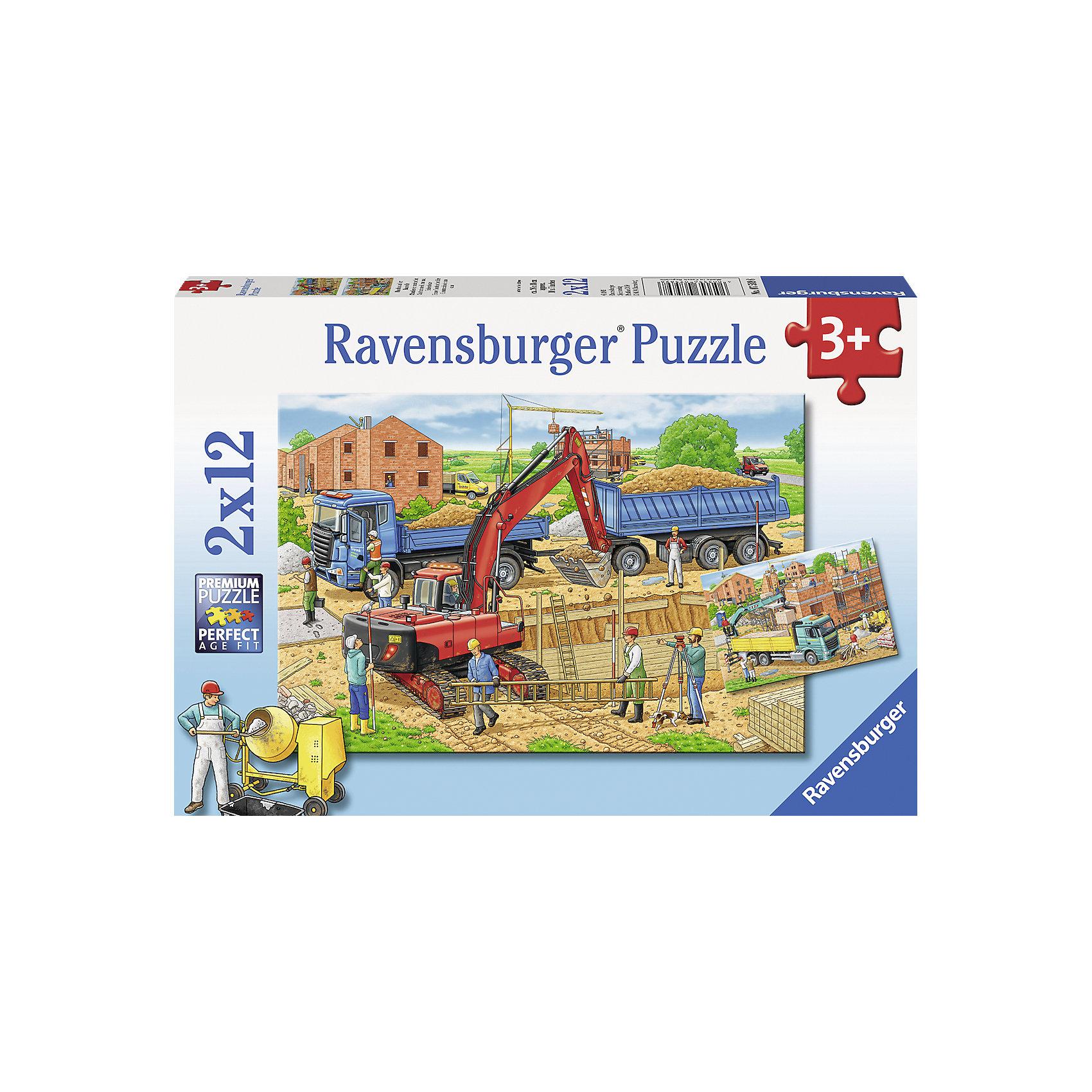 Ravensburger RavensburgerПазл Стройка дома, 2х12 деталей