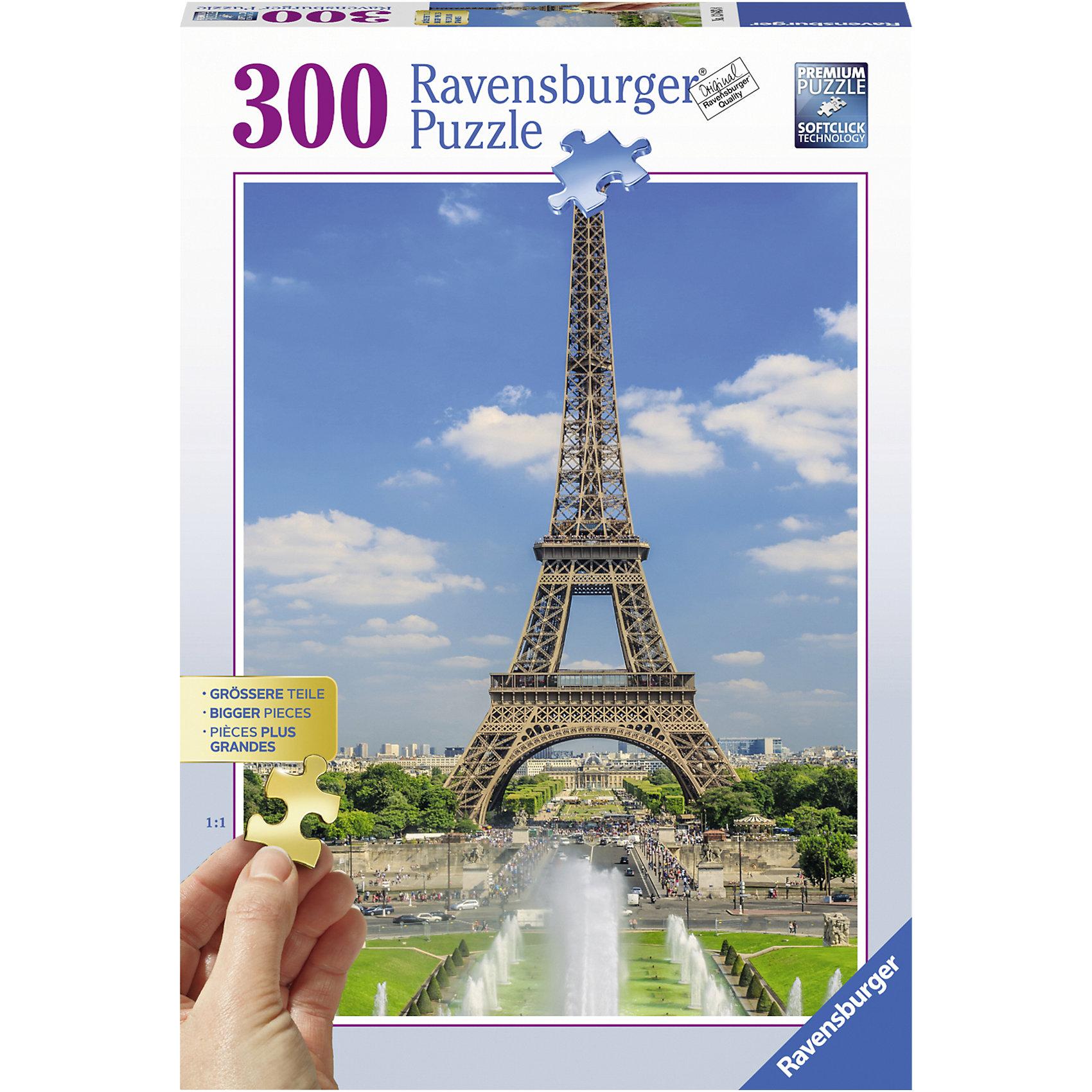 Пазл Вид на Эйфелеву башню, 300 деталей, RavensburgerПазл Вид на Эйфелеву башню состоит из 300 деталей. Сборка пазла развивает моторику рук, воображение, внимательность, усидчивость и логическое мышление. Все детали изготовлены из качественного, экологического материала, которые не расклеиваются при использовании. Красочная картинка  не потеряет цвет со временем и позволит вам наблюдать за прекрасным видом  Парижа.<br><br>В товар входит:<br>-300 деталей<br><br>Дополнительная информация:<br>-Размер картинки – 49*36 см <br>-Возраст: от 12 лет<br>-Для девочек и мальчиков<br>-Состав: картон, бумага<br>-Бренд: Ravensburger (Равенсбургер)<br>-Страна обладатель бренда: Германия<br><br>Ширина мм: 334<br>Глубина мм: 230<br>Высота мм: 54<br>Вес г: 558<br>Возраст от месяцев: 108<br>Возраст до месяцев: 228<br>Пол: Унисекс<br>Возраст: Детский<br>Количество деталей: 300<br>SKU: 4441702