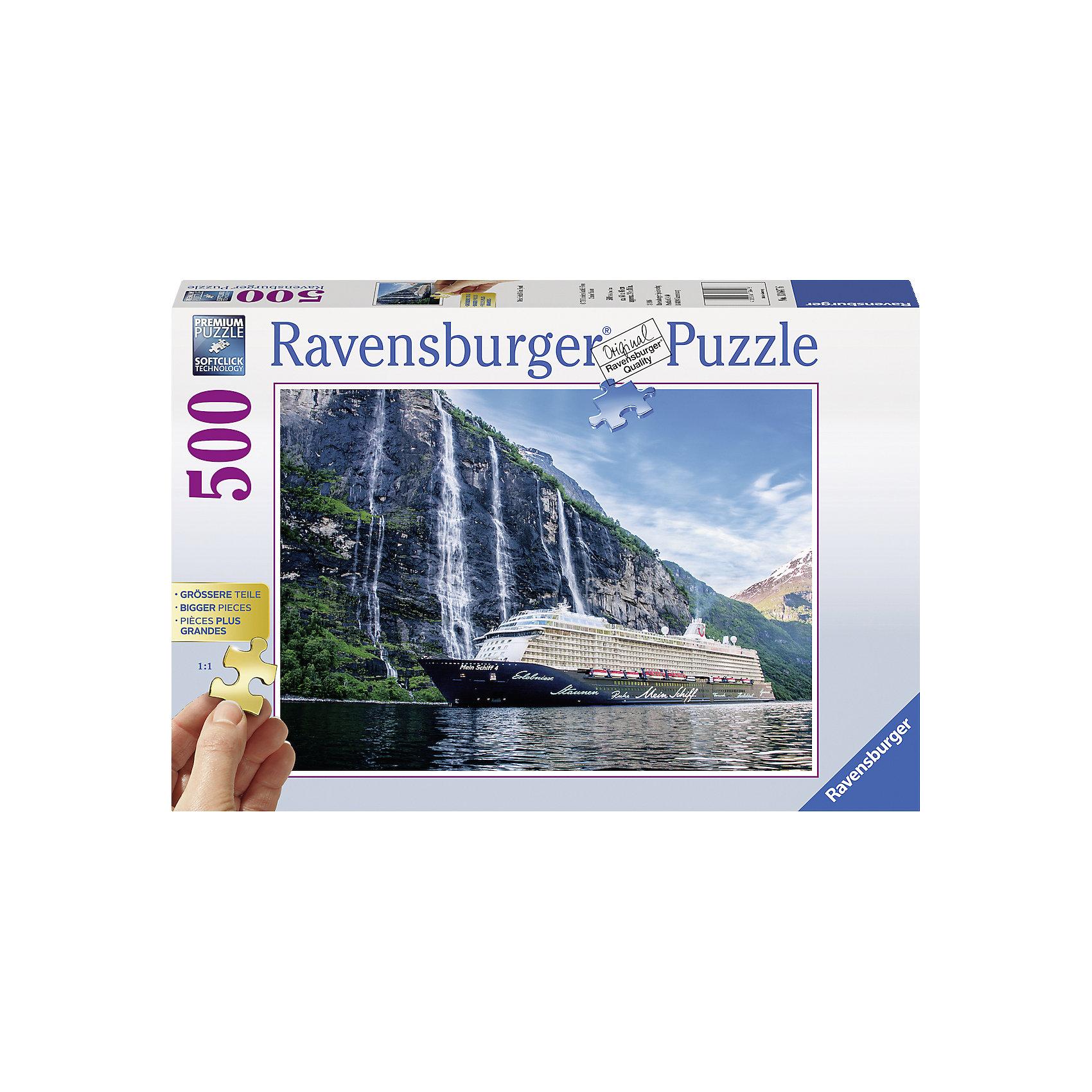 Ravensburger Пазл Мой корабль 4 во фьорде, 500 деталей, Ravensburger ravensburger пазл прима балерина 500 деталей