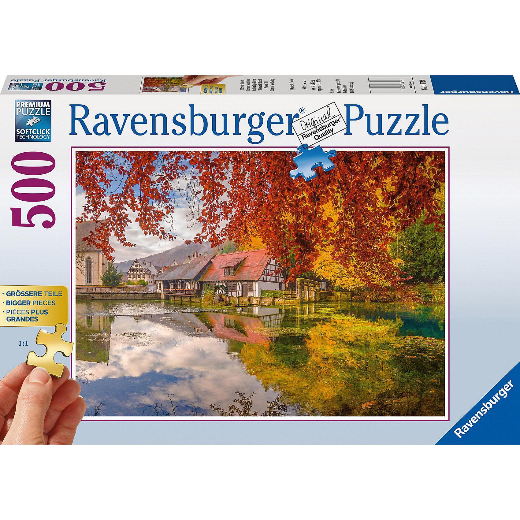 Ravensburger Пазл Тихая мельница, 500 деталей, Ravensburger ravensburger пазл тихая бухта 1500 деталей