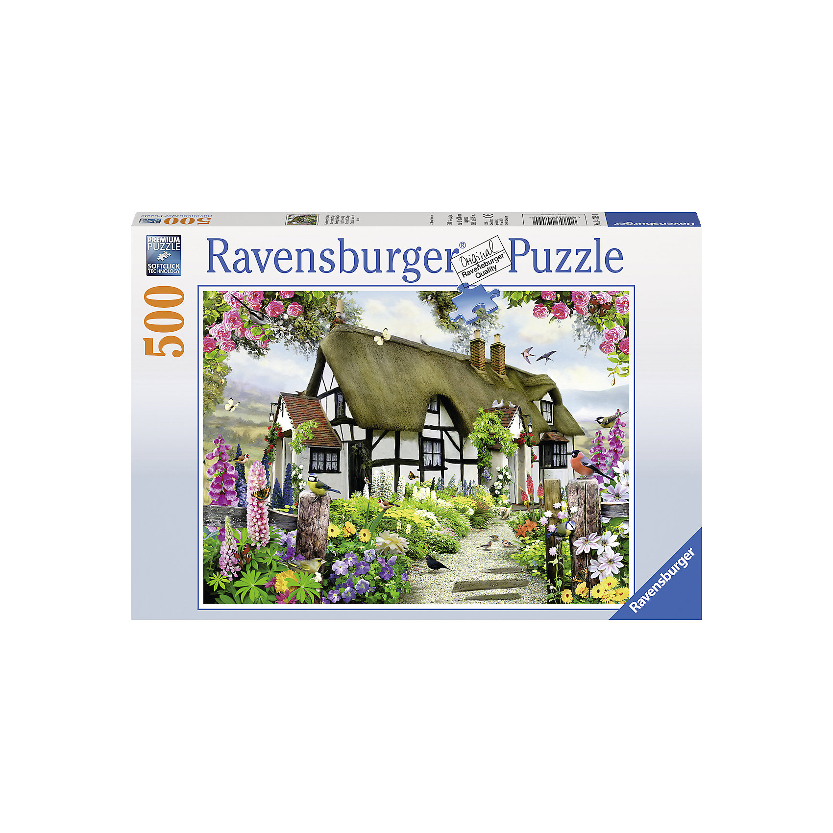 Пазл «Дом мечты», 500 деталей, RavensburgerЛюбителям собирать пазлы может понравиться красивая мозаика Дом мечты. Это довольно большой пазл, собрать который смогут дети от 9 лет. Он состоит из 500 элементов, большое количество которых представляют растительность. Готовая картина представляет собой белоснежный дом с оригинальной крышей, стоящий в окружении яркой зелени и красивых цветов. Все детали очень качественные и не будут расклеиваться при использовании.<br>В товар входит:<br>-500 деталей<br><br>Дополнительная информация:<br>-Размер картинки 61*46 см <br>-Размер упаковки 33*23*5,5 см <br>-Возраст: от 9 лет<br>-Для девочек и мальчиков<br>-Состав: картон, бумага<br>-Бренд: Ravensburger (Равенсбургер)<br>-Страна обладатель бренда: Германия<br><br>Ширина мм: 335<br>Глубина мм: 231<br>Высота мм: 37<br>Вес г: 547<br>Возраст от месяцев: 108<br>Возраст до месяцев: 228<br>Пол: Унисекс<br>Возраст: Детский<br>Количество деталей: 500<br>SKU: 4441716