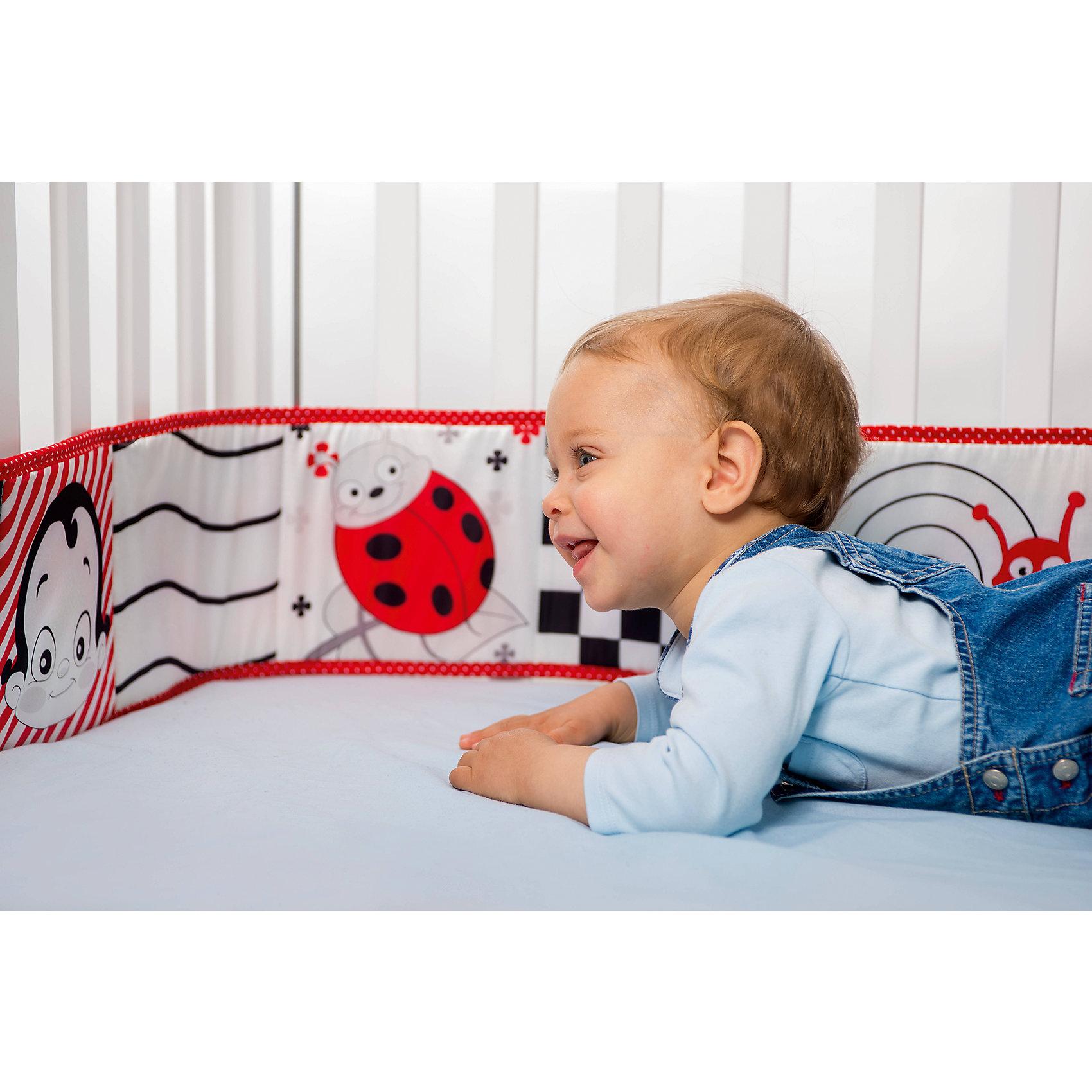 WeeWise Бампер-книжка Веселые картинки,  WeeWise мобили weewise мобиль для детской кроватки окаеан