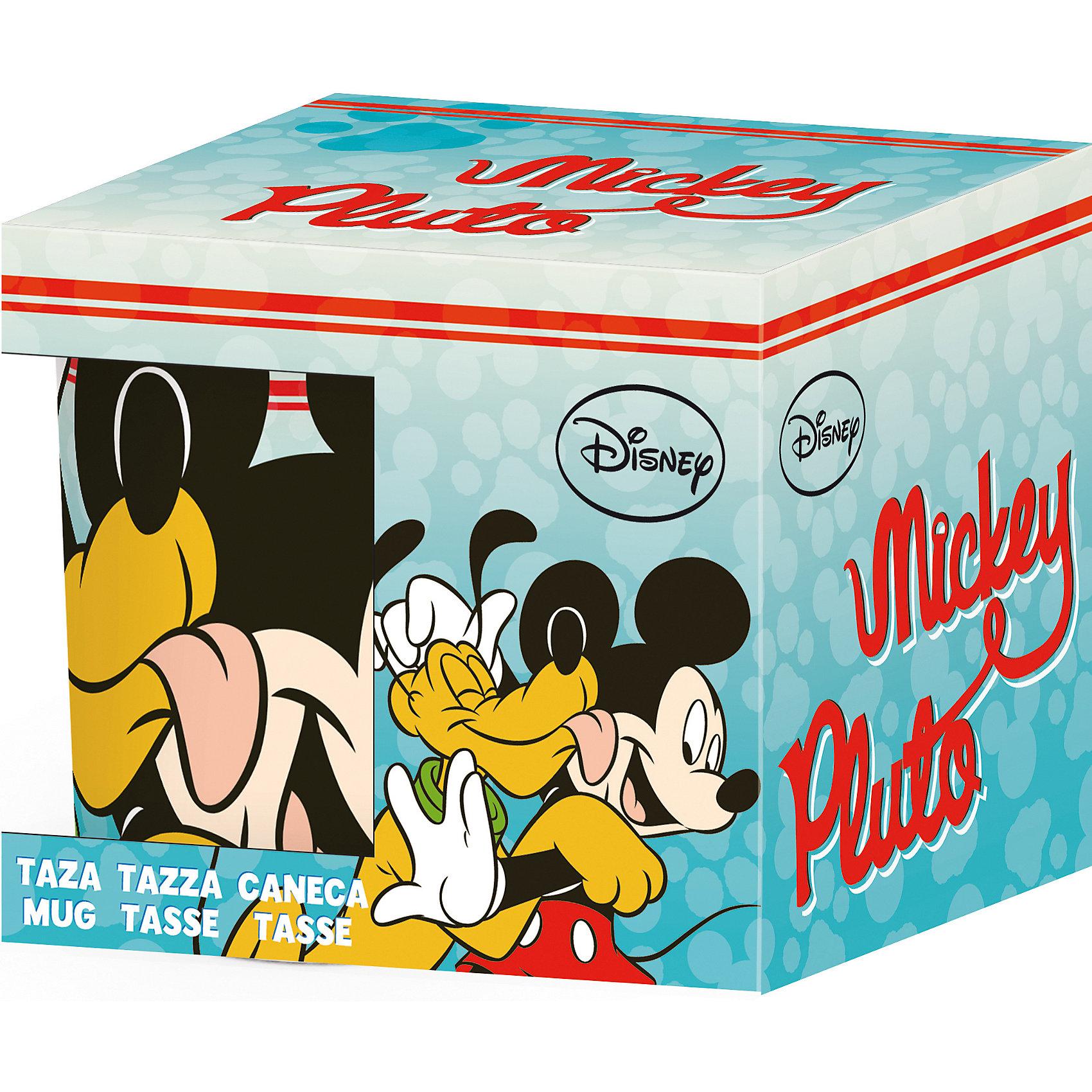 Новый Диск Керамическая кружка Микки маус и Плуто 220 мл в подарочной упаковке