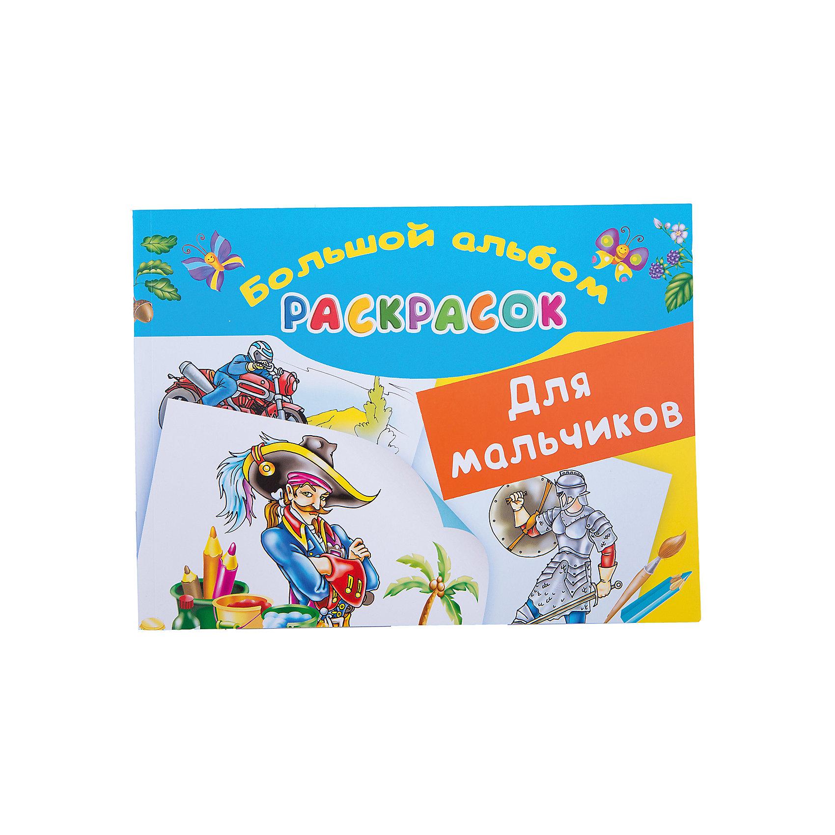 Малыш Большой альбом раскрасок для мальчиков дмитриева в г альбом сказочных наклеек для мальчиков