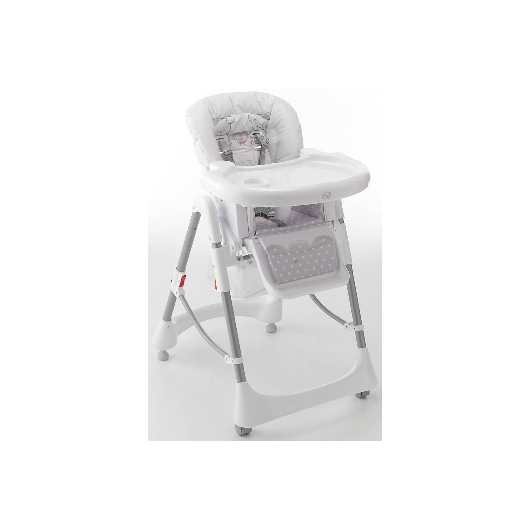 Стульчик для кормления Prestige, Pali, белыйОчень удобный и комфортный стульчик от итальянского бренда Pali (Пали) (Пали) обязательно понравится малышам! Мягкое сиденье с регулируемой спинкой, страховочными ремнями и удобным разделителем для ног обеспечит крохе комфорт и безопасность. Стульчик имеет колесики, облегчающие перемещение по квартире; удобную подставку для ножек ребенка; съемный стол с отверстием под стакан. Стул выполнен в приятной цветовой гамме, изготовлен из высококачественных прочных и экологичных материалов. <br><br>Дополнительная информация:<br><br>- Материал: пластик, металл, <br>- Размер: 58х82х107 см.<br>- Размер в сложенном виде: 40х55х120 см.<br>- Колесики.<br>- Регулируемый наклон спинки (2 положения).<br>- Компактно складывается.<br>- Съемный стол (3 положения).<br>- Регулируемая подножка.<br>- 5-ти точечные ремни безопасности.<br>- Чехол снимается и легко моется.<br><br>Стульчик для кормления Gigi&amp;Lele (Джиджи Леле), Pali (Пали), белый, можно купить в нашем магазине.<br><br>Ширина мм: 1040<br>Глубина мм: 480<br>Высота мм: 120<br>Вес г: 11500<br>Возраст от месяцев: 6<br>Возраст до месяцев: 36<br>Пол: Унисекс<br>Возраст: Детский<br>SKU: 4443712