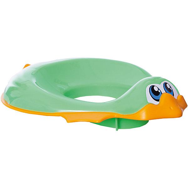 Накладка на унитаз, Ducka, Ok Baby, зеленыйДетские горшки и писсуары<br>Накладка на унитаз выполнена из высококачественных материалов, имеет привлекательный дизайн и яркий цвет. Сиденье обязательно понравится ребенку и поможет быстро приучить кроху к унитазу. Поверхность, выполненная из мягкой резины, не позволит накладке соскользнуть или изменить свое положение в то время, когда ребенок сидит на ней, обеспечит безопасность и комфорт. <br><br>Дополнительная информация:<br><br>- Материал: пластик, резина.<br>- Размер: 32,5х9,5х41 см.<br>- Анатомическая форма. <br>- Подходит для унитазов разных форм и размеров. <br>- Яркий, привлекательный дизайн. <br><br>Накладку на унитаз, Ducka, Ok Baby, зеленую, можно купить в нашем магазине.<br><br>Ширина мм: 950<br>Глубина мм: 410<br>Высота мм: 325<br>Вес г: 800<br>Возраст от месяцев: 12<br>Возраст до месяцев: 48<br>Пол: Унисекс<br>Возраст: Детский<br>SKU: 4443715