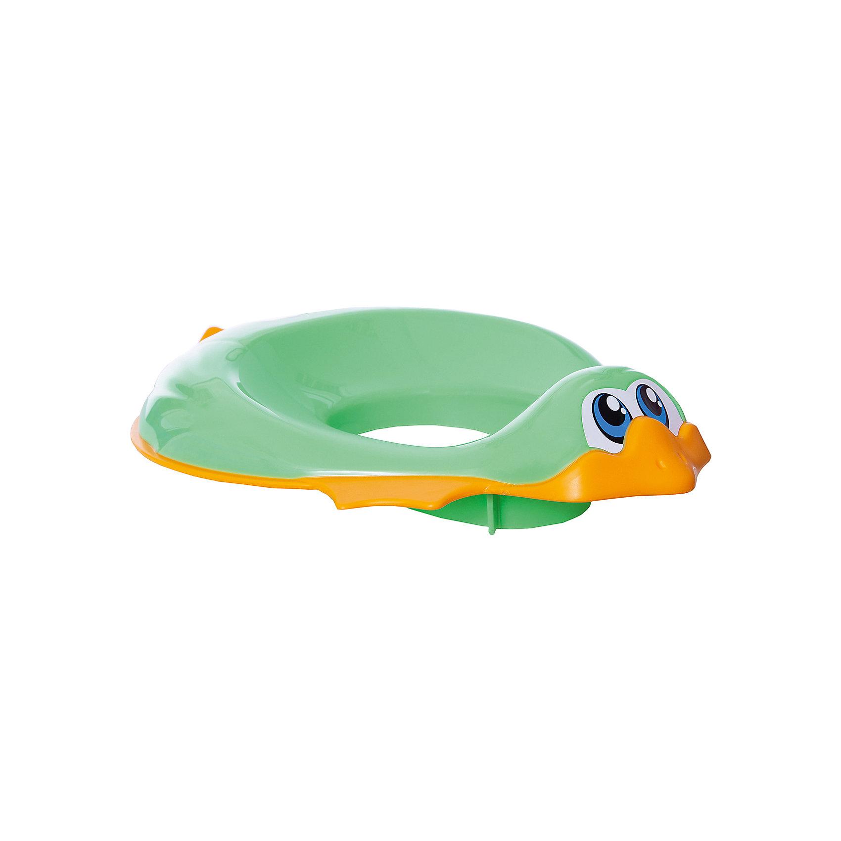 Накладка на унитаз, Ducka, Ok Baby, зеленыйГоршки, сиденья для унитаза, стульчики-подставки<br>Накладка на унитаз выполнена из высококачественных материалов, имеет привлекательный дизайн и яркий цвет. Сиденье обязательно понравится ребенку и поможет быстро приучить кроху к унитазу. Поверхность, выполненная из мягкой резины, не позволит накладке соскользнуть или изменить свое положение в то время, когда ребенок сидит на ней, обеспечит безопасность и комфорт. <br><br>Дополнительная информация:<br><br>- Материал: пластик, резина.<br>- Размер: 32,5х9,5х41 см.<br>- Анатомическая форма. <br>- Подходит для унитазов разных форм и размеров. <br>- Яркий, привлекательный дизайн. <br><br>Накладку на унитаз, Ducka, Ok Baby, зеленую, можно купить в нашем магазине.<br><br>Ширина мм: 950<br>Глубина мм: 410<br>Высота мм: 325<br>Вес г: 800<br>Возраст от месяцев: 12<br>Возраст до месяцев: 48<br>Пол: Унисекс<br>Возраст: Детский<br>SKU: 4443715