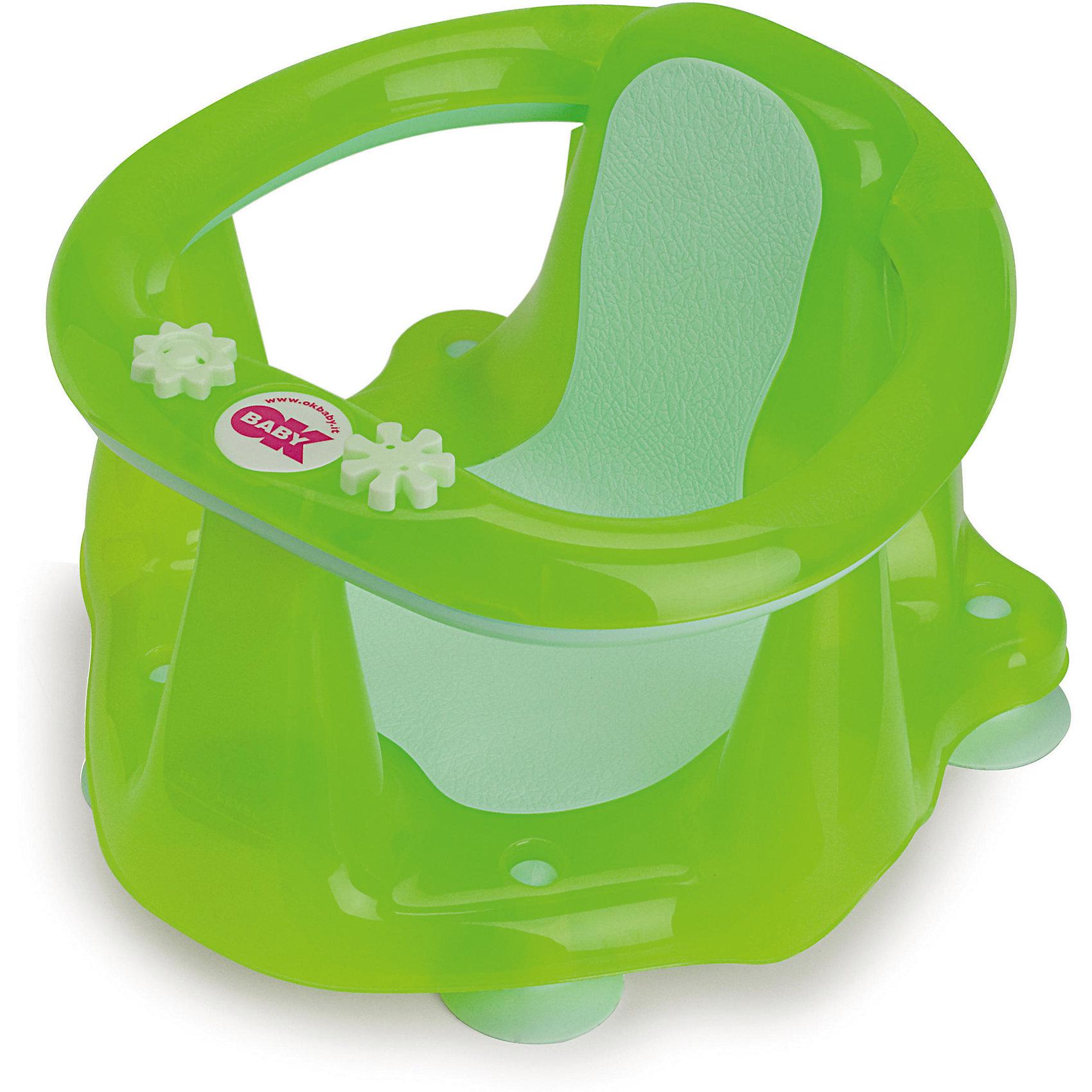 Сиденье в ванну Flipper Evolution, OK Baby, зеленыйВанны, горки, сиденья<br>Малыши обожают плескаться в ванне, при этом мысль о безопасности маленького непоседы не покидает ни одну маму. Сиденье в ванну Flipper Evolution мягко удержит кроху в положении сидя, обеспечив максимальный комфорт и безопасность. Стул выполнен из высококачественных материалов, имеет анти-скользящее покрытие, края покрытые резиной. Яркий дизайн сиденья обязательно понравится малышам. <br><br>Дополнительная информация:<br><br>- Материал: пластик, резина.<br>- Размер: 38x24x36  см.<br>- Максимальный вес ребенка: 13 кг.<br>- Анатомическая форма. <br>- Анти-скользящее покрытие. <br>- Яркий, привлекательный дизайн. <br><br>Сиденье в ванну Flipper Evolution, OK Baby, зеленое, можно купить в нашем магазине.<br><br>Ширина мм: 380<br>Глубина мм: 360<br>Высота мм: 240<br>Вес г: 1200<br>Возраст от месяцев: 6<br>Возраст до месяцев: 216<br>Пол: Унисекс<br>Возраст: Детский<br>SKU: 4443721