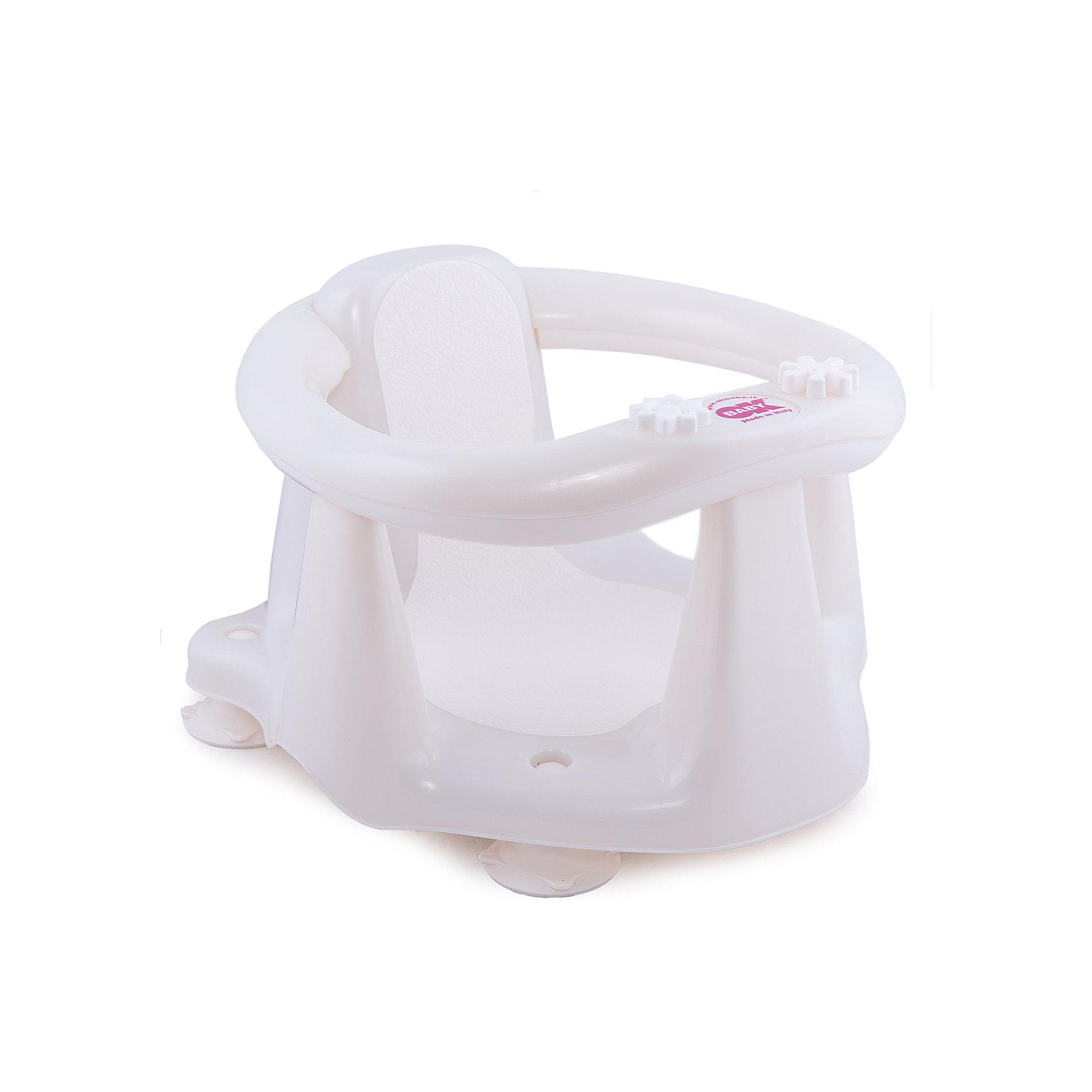 OK Baby Сиденье в ванну Flipper Evolution, OK Baby, белый крка пиковит плюс