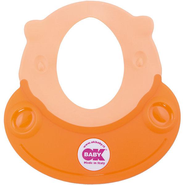 Козырек для купания Hippo, Ok Baby, оранжевыйТовары для купания<br>Малыши обожают купаться, но немногие дети любят мыть голову. Неприятные ощущения при попадании воды в глаза и на лицо сможет устранить удобный, яркий козырек для купания. Козырек в виде очаровательного бегемотика обязательно понравится крохе и превратит процесс мытья головы в веселую и увлекательную игру! Изделие выполнено из высококачественного пластика безопасного для детей. <br><br>Дополнительная информация:<br><br>- Материал: пластик, резина.<br>- Размер: 52х45 см.<br>- Рекомендуемый возраст: от 8 до 36 месяцев.<br>- Яркий, привлекательный дизайн. <br><br>Козырек для купания Hippo, Ok Baby, оранжевый, можно купить в нашем магазине.<br>Ширина мм: 150; Глубина мм: 130; Высота мм: 100; Вес г: 200; Возраст от месяцев: 6; Возраст до месяцев: 36; Пол: Женский; Возраст: Детский; SKU: 4443726;