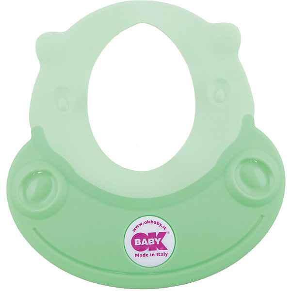 Козырек для купания Hippo, Ok Baby, зеленыйТовары для купания<br>Малыши обожают купаться, но немногие дети любят мыть голову. Неприятные ощущения при попадании воды в глаза и на лицо сможет устранить удобный, яркий козырек для купания. Козырек в виде очаровательного бегемотика обязательно понравится крохе и превратит процесс мытья головы в веселую и увлекательную игру! Изделие выполнено из высококачественного пластика безопасного для детей. <br><br>Дополнительная информация:<br><br>- Материал: пластик, резина.<br>- Размер: 52х45 см.<br>- Рекомендуемый возраст: от 8 до 36 месяцев.<br>- Яркий, привлекательный дизайн. <br><br>Козырек для купания Hippo, Ok Baby, зеленый, можно купить в нашем магазине.<br><br>Ширина мм: 150<br>Глубина мм: 130<br>Высота мм: 100<br>Вес г: 200<br>Возраст от месяцев: 6<br>Возраст до месяцев: 36<br>Пол: Женский<br>Возраст: Детский<br>SKU: 4443727