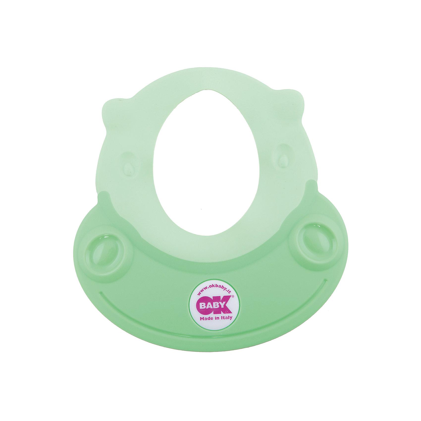 OK Baby Козырек для купания Hippo, Ok Baby, зеленый roxy kids козырек защитный для мытья головы rbc 492 g зеленый от 6 месяцев до 3 лет