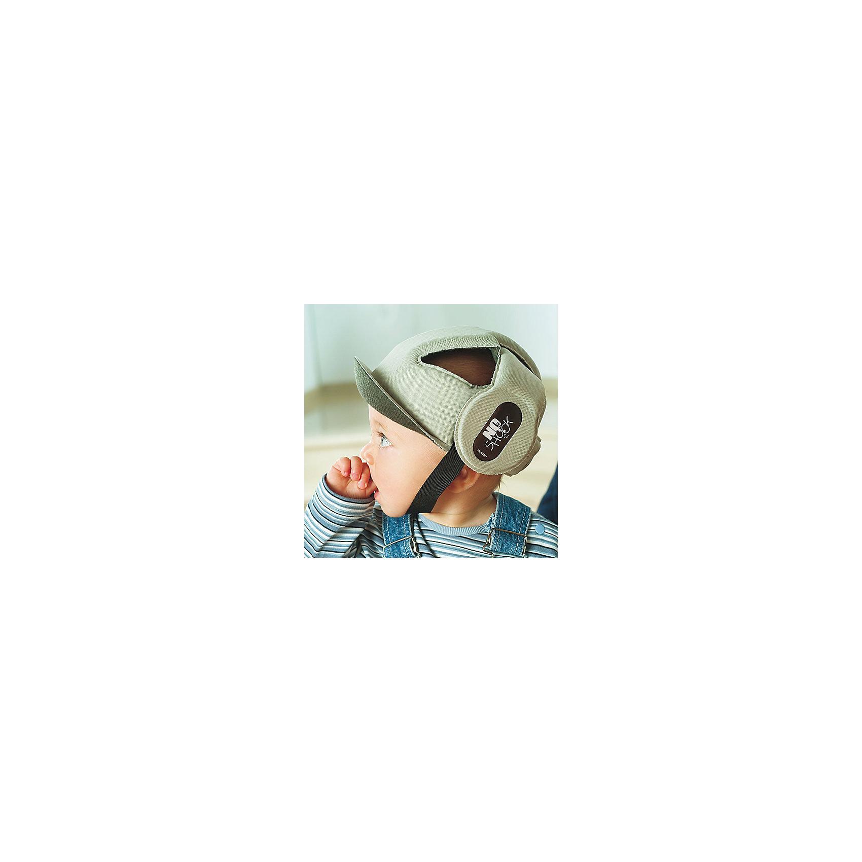 Противоударный шлем No Shock, Ok Baby, бежевыйПрочие товары для безопасности<br>Противоударный шлем No Shock защитит голову малыша во время падений, обеспечив комфорт и безопасность в любой ситуации. Дополнительную защиту в области носа создает  козырек. Мягкий ремешок не натирает шею. Внутреннее покрытие шлема выполнено из специального мягкого полотна, обработанного методом Sanitized, предотвращающим образование плесени и бактерий. <br><br>Дополнительная информация:<br><br>- Материал: внешнее покрытие - 100% полиэфирная ткань; внутреннее покрытие - мягкая ткань. <br>- Размер головы: 44-52.<br>- Рекомендуемый возраст: от 8 до 36 месяцев.<br>- Козырек, защищающий нос.<br>- Можно стирать. <br>- Мягкий ремешок. <br>- Выдерживает до 10 кг. <br><br>Противоударный шлем No Shock, Ok Baby, бежевый, можно купить в нашем магазине.<br><br>Ширина мм: 150<br>Глубина мм: 130<br>Высота мм: 100<br>Вес г: 200<br>Возраст от месяцев: 6<br>Возраст до месяцев: 18<br>Пол: Унисекс<br>Возраст: Детский<br>SKU: 4443729