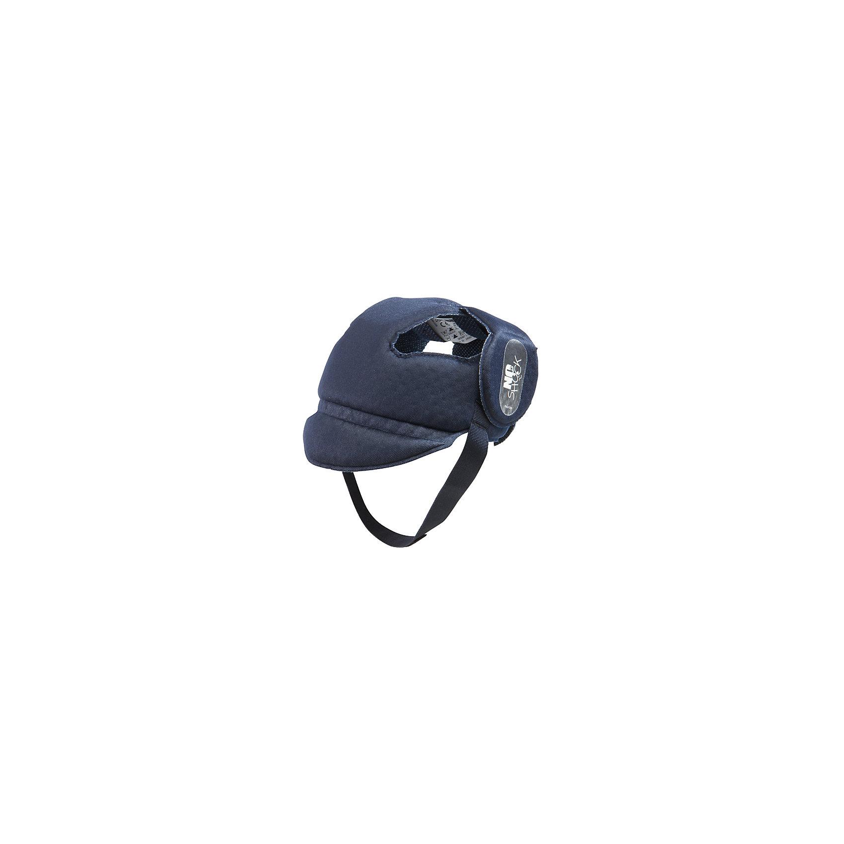 Противоударный шлем No Shock, Ok Baby, синийПрочие товары для безопасности<br>Противоударный шлем No Shock защитит голову малыша во время падений, обеспечив комфорт и безопасность в любой ситуации. Дополнительную защиту в области носа создает  козырек. Мягкий ремешок не натирает шею. Внутреннее покрытие шлема выполнено из специального мягкого полотна, обработанного методом Sanitized, предотвращающим образование плесени и бактерий. <br><br>Дополнительная информация:<br><br>- Материал: внешнее покрытие - 100% полиэфирная ткань; внутреннее покрытие - мягкая ткань. <br>- Размер головы: 44-52.<br>- Рекомендуемый возраст: от 8 до 36 месяцев.<br>- Козырек, защищающий нос.<br>- Можно стирать. <br>- Мягкий ремешок. <br>- Выдерживает до 10 кг. <br><br>Противоударный шлем No Shock, Ok Baby, синий, можно купить в нашем магазине.<br><br>Ширина мм: 150<br>Глубина мм: 130<br>Высота мм: 100<br>Вес г: 200<br>Возраст от месяцев: 6<br>Возраст до месяцев: 18<br>Пол: Унисекс<br>Возраст: Детский<br>SKU: 4443730