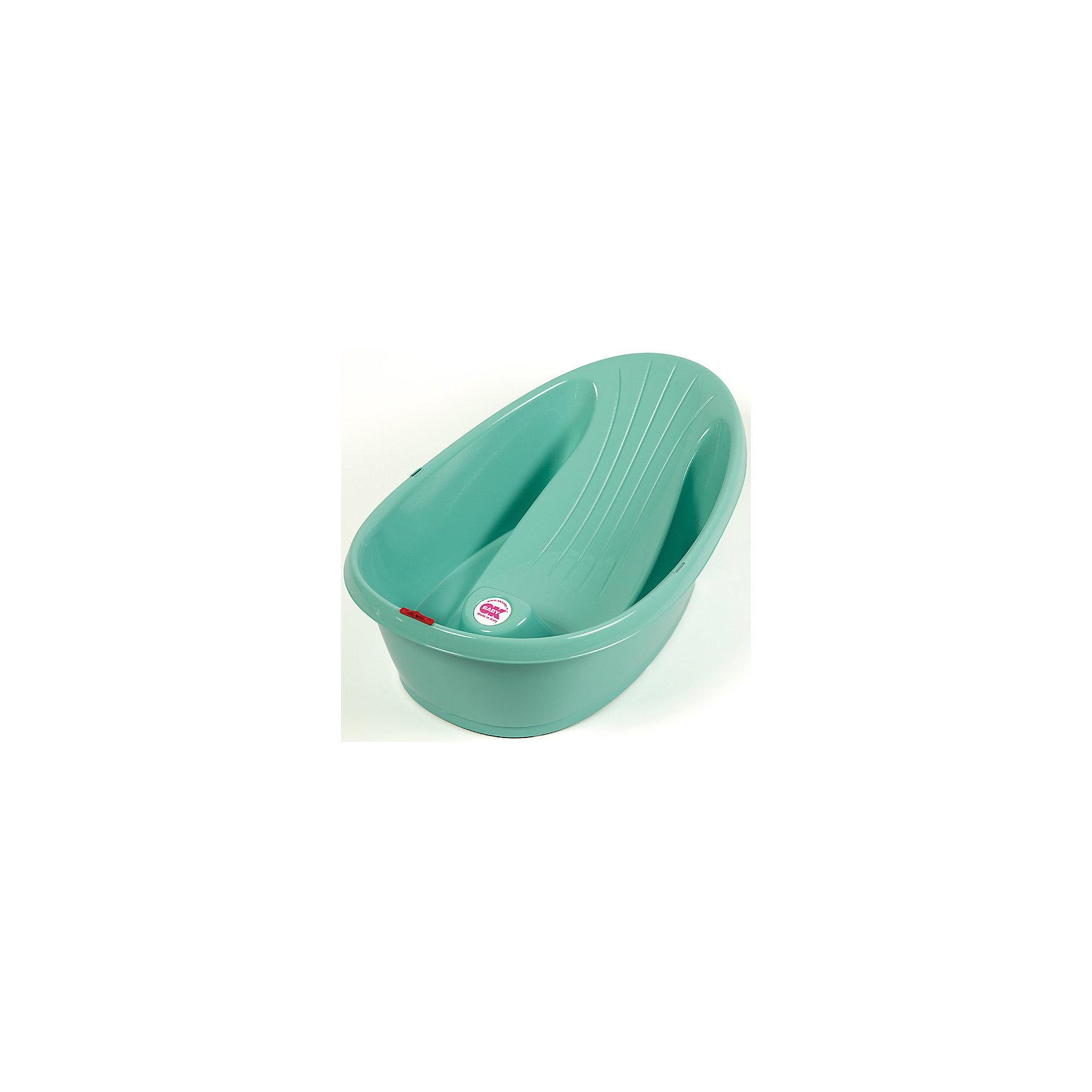 Ванночка Onda, Ok Baby, зеленыйВанны, горки, сиденья<br>Ванночка Onda подарит малышам безопасное и комфортное купание. Ванночка удерживает кроху в идеальном для купания положение, не позволяя ему соскользнуть под воду. Противоскользящие резиновые колпачки обеспечивают устойчивость на плоских поверхностях. Изделие выполнено из высококачественных экологичных материалов безопасных для детей. <br><br>Дополнительная информация:<br><br>- Материал: пластик.<br>- Размер: 42х24х63 см. <br>- Максимальный объем: 16 л.<br>- Возможна установка на большую ванну (при наличии крепления).<br>- Эргономичный дизайн<br>- Компактная и легкая.<br>- Встроенный термометр.<br>- Индикатор максимального уровня воды.<br>- Пробка для слива воды.<br><br>Ванночку Onda, Ok Baby, зеленую, можно купить в нашем магазине.<br><br>Ширина мм: 630<br>Глубина мм: 420<br>Высота мм: 240<br>Вес г: 2500<br>Возраст от месяцев: 0<br>Возраст до месяцев: 12<br>Пол: Унисекс<br>Возраст: Детский<br>SKU: 4443731