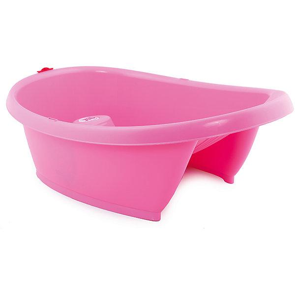 Ванночка Onda Baby, Ok Baby, ярко-розовыйТовары для купания<br>Характеристики товара:<br><br>• возраст: с рождения;<br>• Форма ванночки соответствует форме тела ребенка с тремя опорными точками<br>• Анатомическая горка позволяет удерживать правильное положение малыша без скольжения<br>• В стенку ванночки встроен определитель температуры, автоматически изменяющий показания соответственно остыванию или нагреванию воды<br>• По бокам расположены рельефные нескользящие подставки для мыла или необходимых мелочей<br>• Оборудована сливом с защитой<br>•  Изготовлена из прочных безвредных материалов, соответствует европейским гигиеническим стандартам.<br>• При использовании специального крепления (перекладин) возможна установка на обычную ванну для взрослых (в комплект не входят).<br>• размеры: 92 х 53 х 27 см.<br>• ширина: 45 см.<br>• глубина: 20 см.<br>• вес: 3 кг.<br><br>Детская анатомическая ванночка Baby Ok Onda удерживает ребенка в идеальном для купания положении, не позволяет ему соскользнуть под воду. Предназначена для детей от 0 до 1 года.<br><br>Форма ванночки соответствует форме тела ребенка, с тремя опорными точками (подмышечными и паховой), что обеспечивает безопасность малыша, позволяет вымыть его без помощи второй пары рук.<br><br> При помощи слива в форме ключа опустошение ванночки становится более удобным. И, что немаловажно, можно ополаскивать ребенка непосредственно в ванночке.<br> Благодаря инновационным опорным перекладинам с системой регулирования, ванночку можно легко закрепить на ванне для взрослых (опция).<br><br>Ванночку Onda Baby, Ok Baby можно купить в нашем интернет-магазине.<br>Ширина мм: 630; Глубина мм: 420; Высота мм: 240; Вес г: 2500; Возраст от месяцев: 0; Возраст до месяцев: 12; Пол: Унисекс; Возраст: Детский; SKU: 4443734;