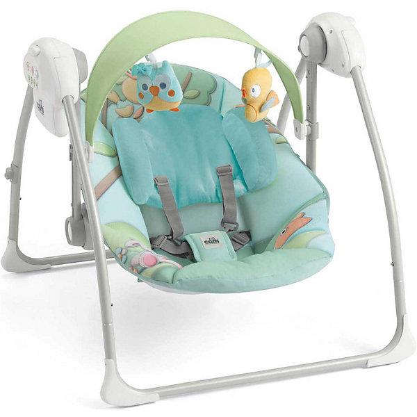 Качели-шезлонг Sonnolento Совы, CAM, голубойДетские шезлонги<br>Качели-шезлонг подходят для детей с самого рождения. Модель имеет удобную спинку с 5 положениями, мягкое сиденье и мягкий подголовник для еще большего комфорта малыша. Летний козырек от солнца с двумя съёмными игрушками, регулируется по высоте в 2-х положениях. Пятиточечные страховочные ремни обеспечат безопасность крохи.  Очень легкая и компактная модель быстро складывается и раскладывается, занимает мало места при хранении и транспортировке.  Три скорости качания, 5 колыбельных мелодий и 3 различных варианта звуков природы успокоят малыша, настроив его на комфортный отдых. Шезлонг изготовлен из прочных, высококачественных материалов, безопасен для детей. <br><br>Дополнительная информация:<br><br>-Размеры в разложенном виде: 61,5 x 64 x 58 см. <br>- Размеры в сложенном виде: 61,5 x 26 x 63 см. <br>- Вес: 4 кг.<br>- Максимальный вес ребенка: 9 кг. <br>- Материал: пластик, металл, текстиль. <br>- Регулировка козырька в 2 положениях.<br>- 2 мягкие игрушки. <br>- Мягкое сиденье и подголовник.<br>- Регулируемая в 5 положениях спинка.<br>- 5 колыбельных мелодий, 3 вариации звуков природы. <br>- 3 скорости качания.<br>- Таймер с автоматическим выключением (8-15-30 мин).<br>- Регулировка громкости.<br>- Ножки с нескользящими резиновыми вставками<br>- Если заблокировать сиденье, можно использовать как колыбель.<br>- Съемный чехол (возможна машинная стирка при 30?). <br>- Питание от батареек (4 батареи - 1,5 вольт, не входят в комплект) или от сети (зарядное устройство в комплект не входит)<br><br>Качели-шезлонг Sonnolento Совы, CAM, голубые, можно купить в нашем магазине.<br><br>Ширина мм: 440<br>Глубина мм: 415<br>Высота мм: 640<br>Вес г: 5200<br>Цвет: голубой<br>Возраст от месяцев: 0<br>Возраст до месяцев: 72<br>Пол: Унисекс<br>Возраст: Детский<br>SKU: 4443746