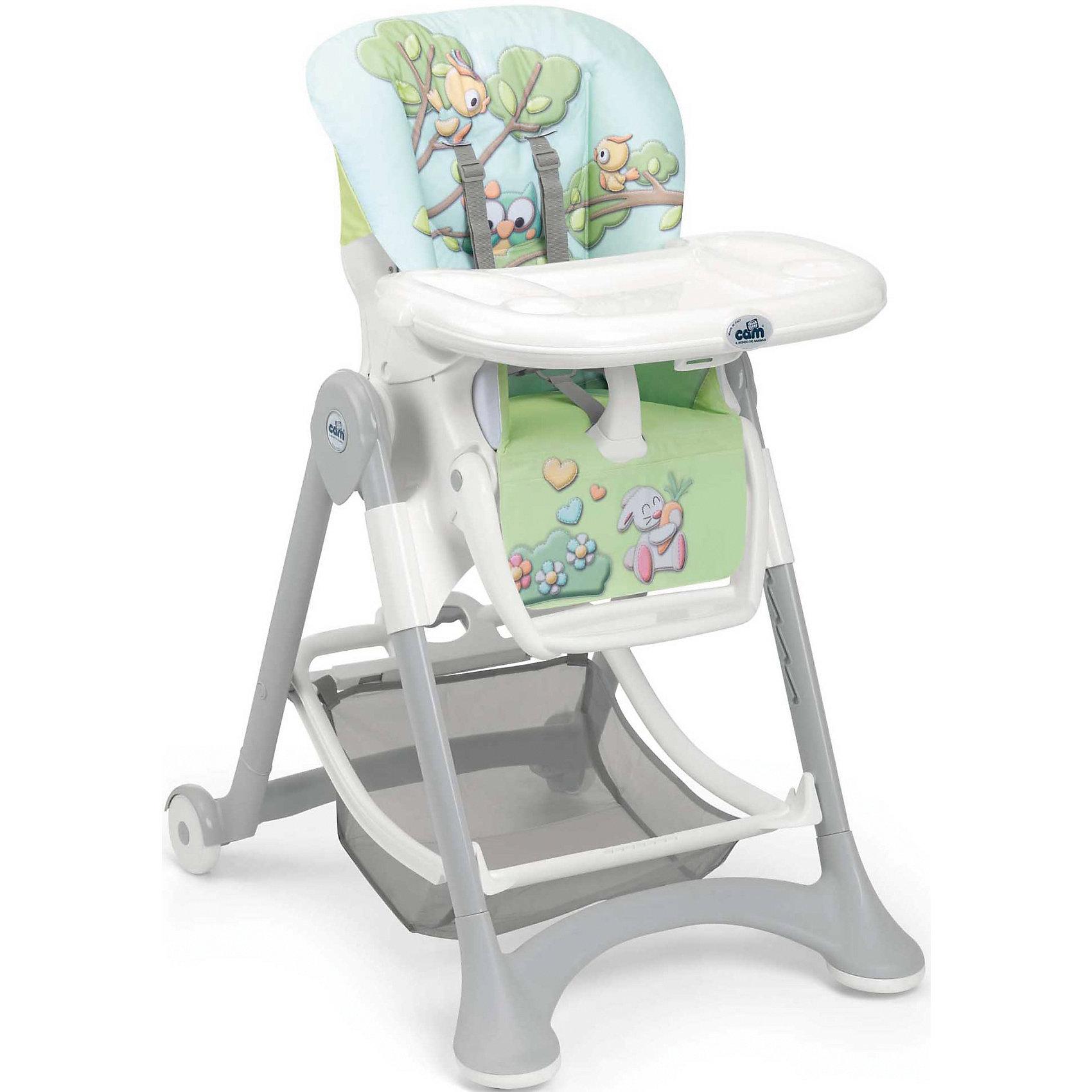 Стульчик для кормления Campione Совы, CAM, голубойОчень удобный и комфортный стульчик для кормления обязательно понравится малышам! Мягкое сиденье с регулируемой  спинкой, страховочными ремнями и удобным разделителем для ног обеспечит малышам комфорт и безопасность. Стульчик имеет колесики, облегчающие перемещение по квартире; удобную подставку для ножек ребенка; съемный стол можно мыть в посудомоечной машине. Стул выполнен в приятной цветовой гамме, изготовлен из высококачественных прочных и экологичных материалов. Передняя часть рамы снабжена нескользящими ножками, которые обеспечивают дополнительную безопасность. Под сиденьем располагается большая корзина для игрушек и вещей. <br><br>Дополнительная информация:<br><br>- Материал: пластик, металл, <br>- Размер в разложенном виде: 61х84х109 см.<br>- Размер в сложенном виде: 61х40х97 см.<br>- Колесики.<br>- Вместительная корзина внизу. <br>- Нескользящие ножки.<br>- Регулируемый наклон спинки ( до положения лежа).<br>- Компактно складывается.<br>- Съемный стол (можно мыть в посудомоечной машине).<br>- Регулировка по высоте.<br>- Регулируемая подножка.<br>- 5-ти точечные ремни безопасности.<br>- Чехол снимается и легко моется.<br><br>Стульчик для кормления Campione Совы, CAM, голубой, можно купить в нашем магазине.<br><br>Ширина мм: 627<br>Глубина мм: 307<br>Высота мм: 980<br>Вес г: 12100<br>Возраст от месяцев: 6<br>Возраст до месяцев: 36<br>Пол: Унисекс<br>Возраст: Детский<br>SKU: 4443763